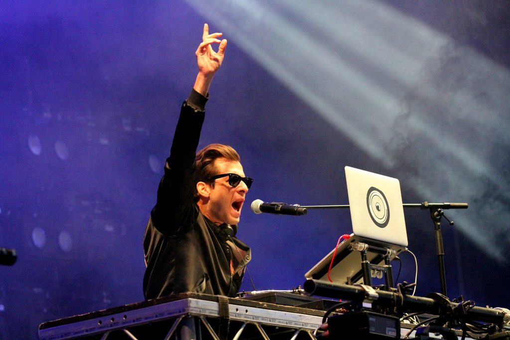 Mark Ronson on the Mardi Gras stage.