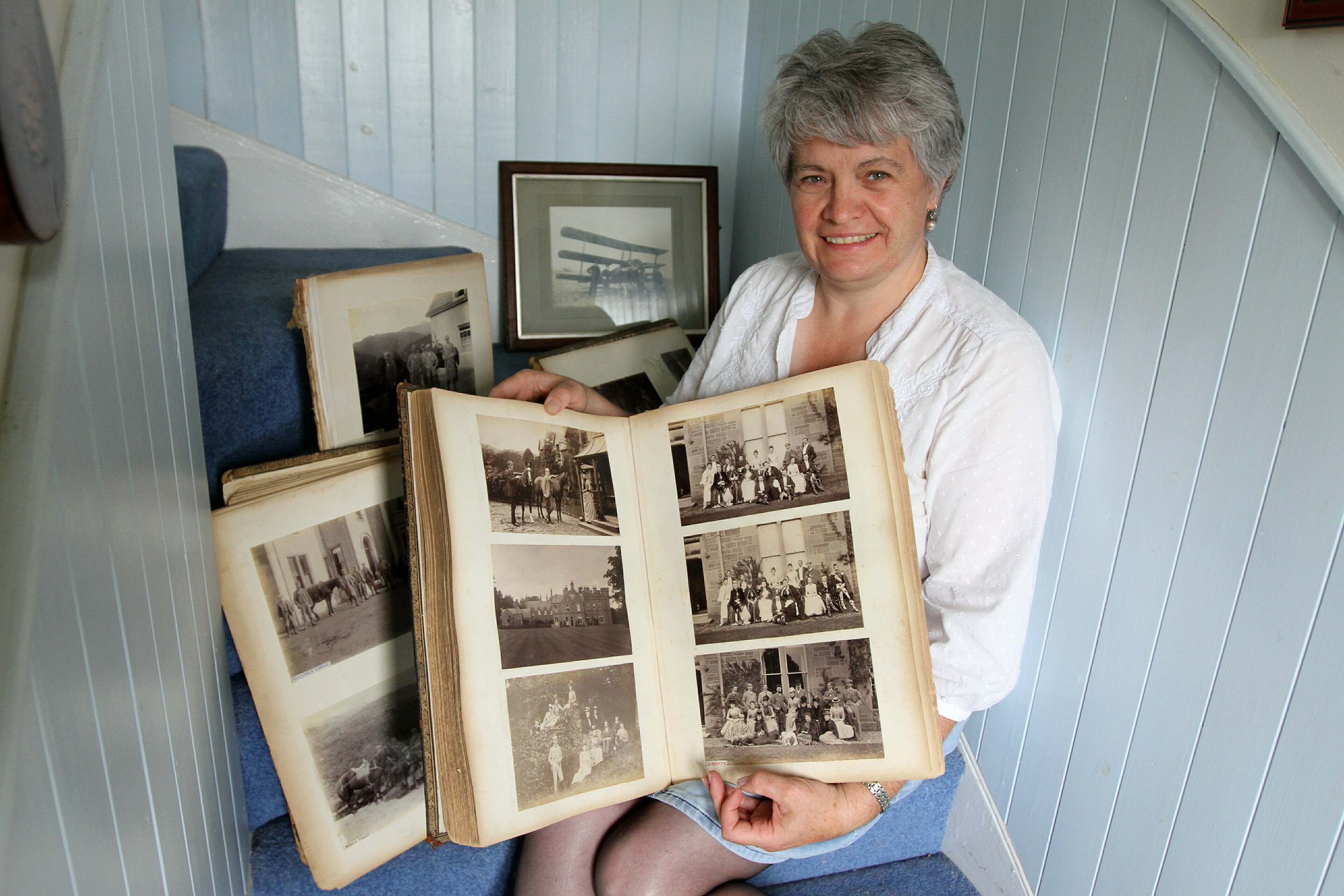 Rare pictures from the 1880s to 1890s were handed to Hilary Farquharson of Turt near Tannadice by a woman in England