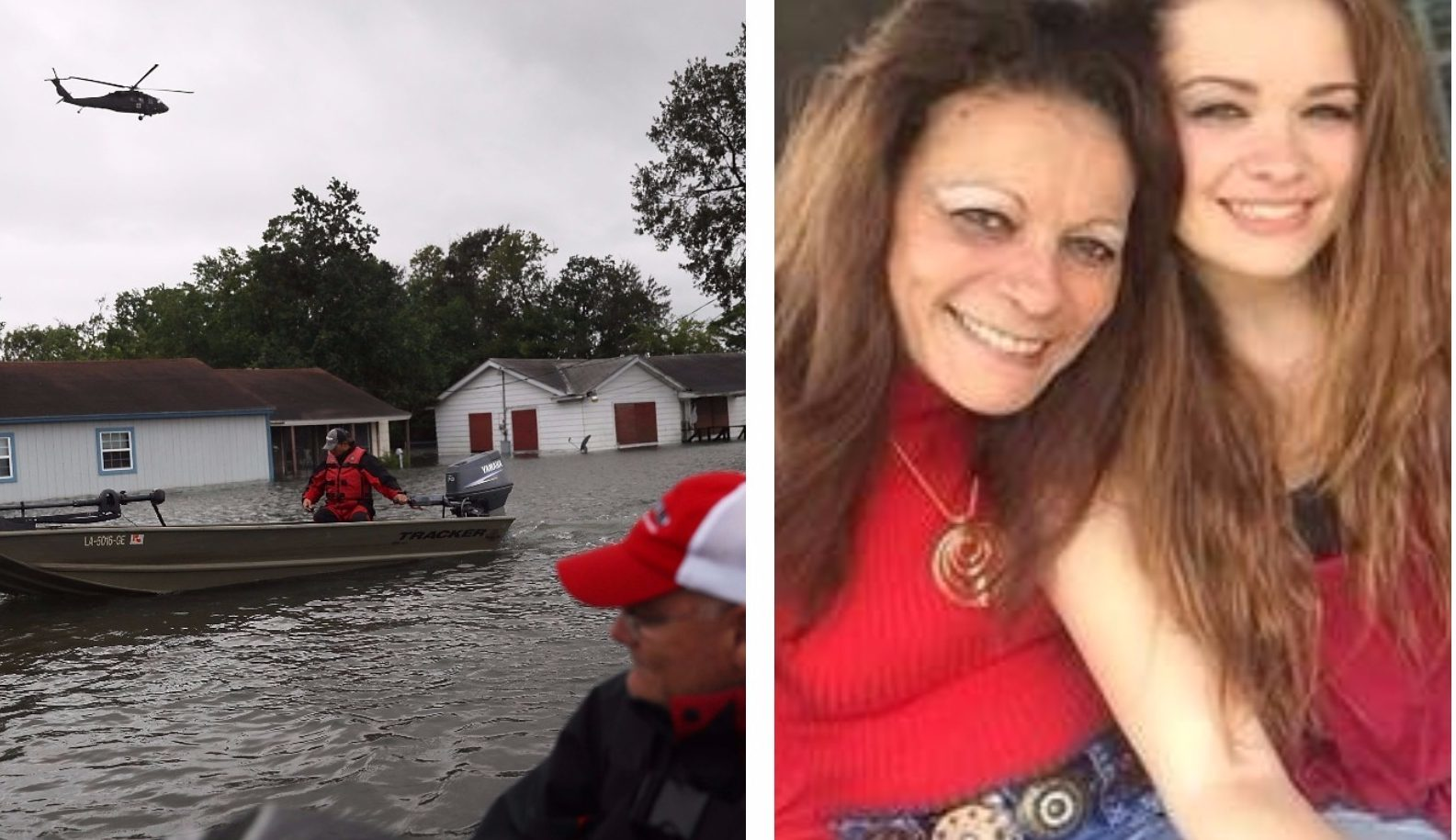 Tania and Stephanie have been caught up in the Hurricane Harvey floods.