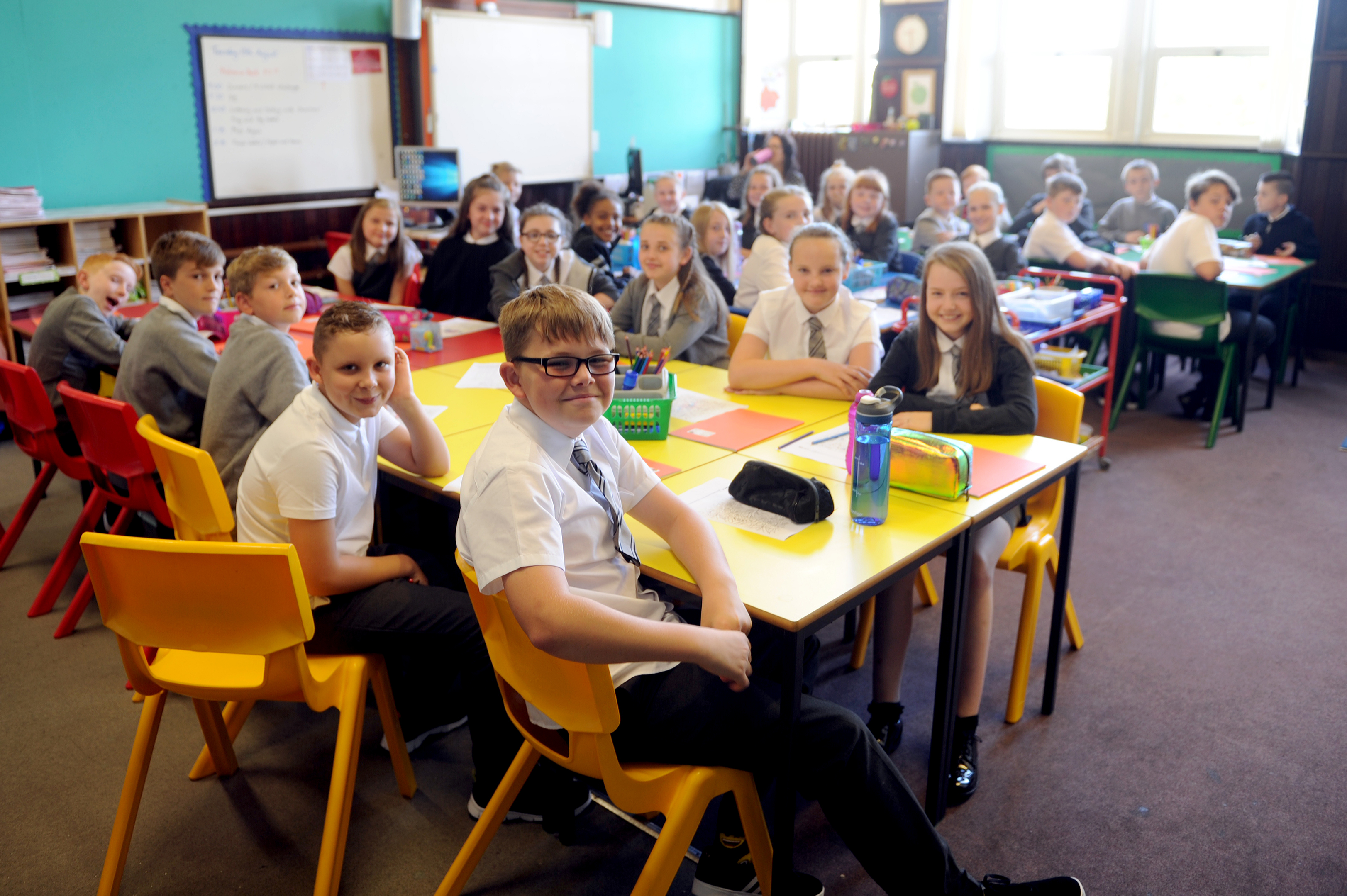 Primary seven students at Ancrum Road Primary were among those to return to class.