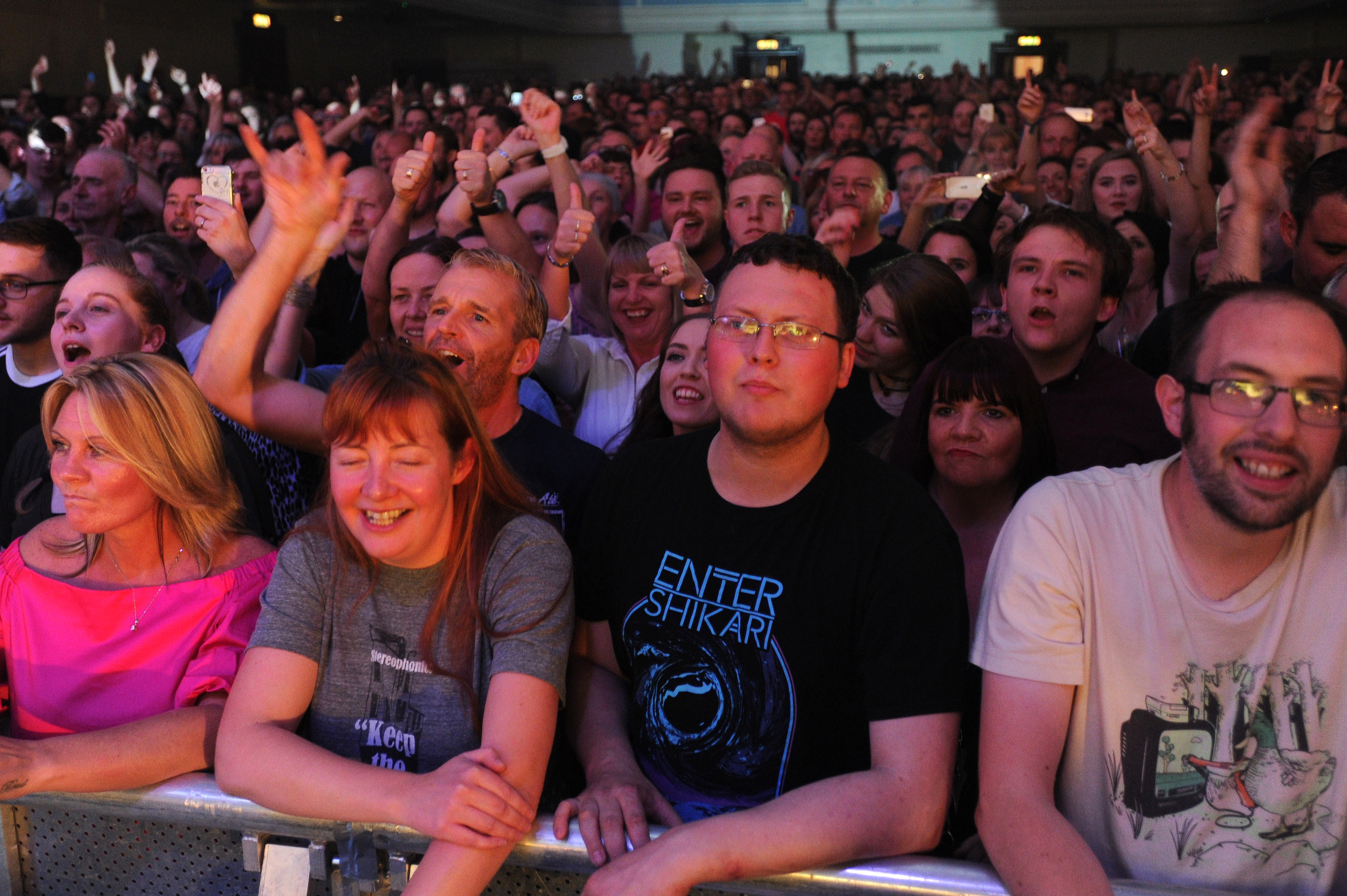 Julie Adams was not allowed to join the legions of Stereophonics fans inside the Caird Hall.