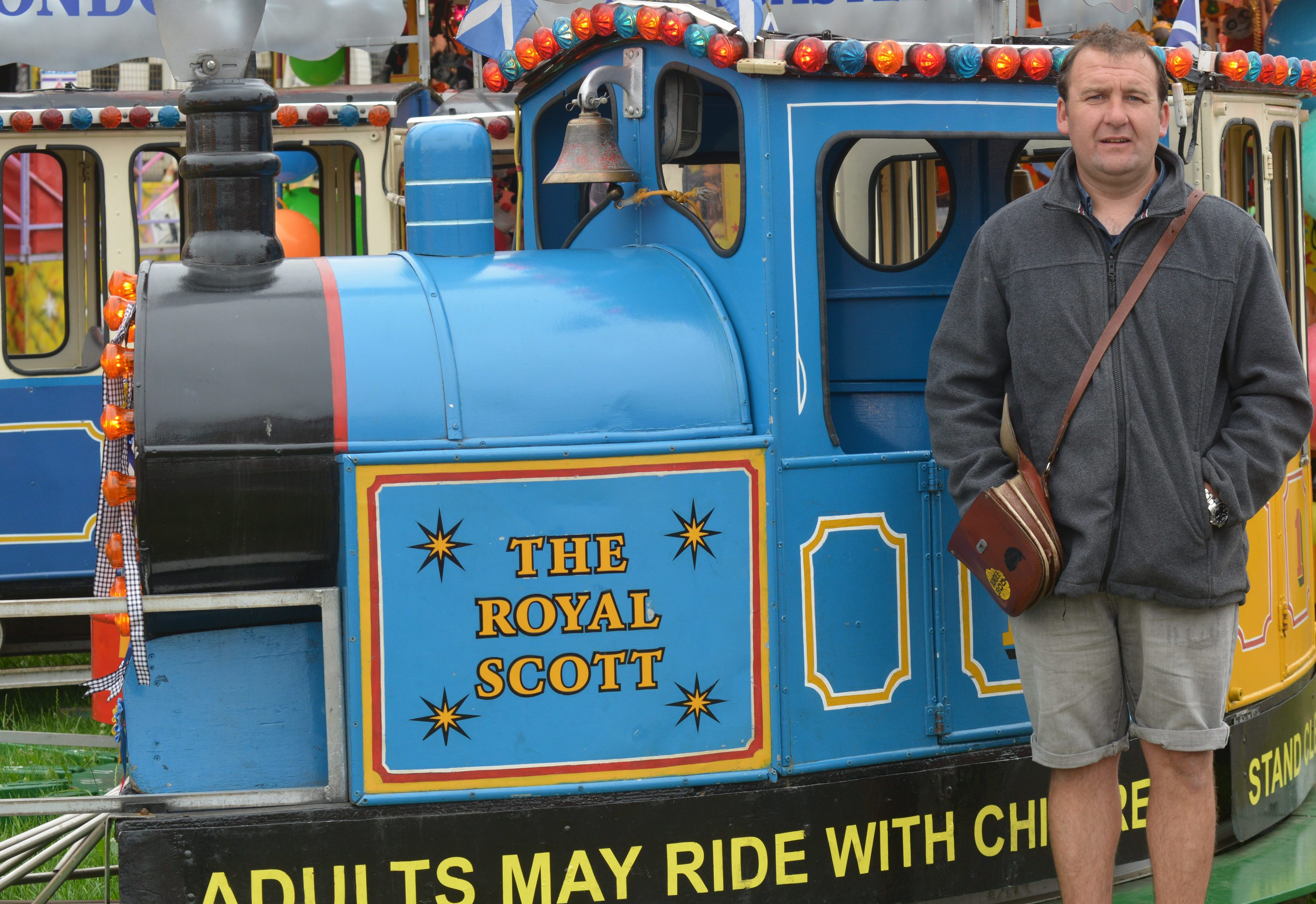 Scott Nutter with his Royal Scott train in Burntisland