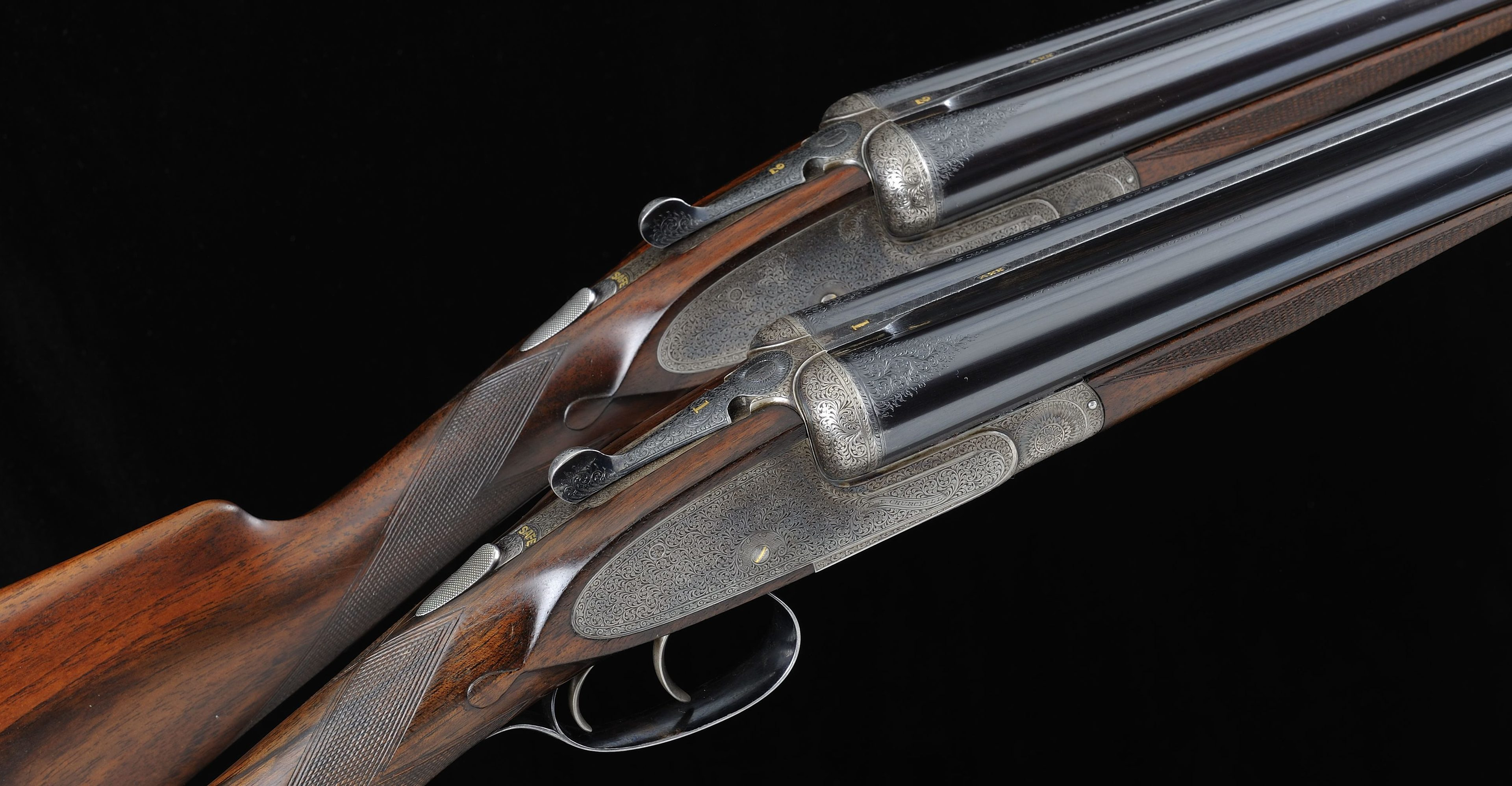 The sporting guns that belonged to late Irish trainer Vincent O'Brien.