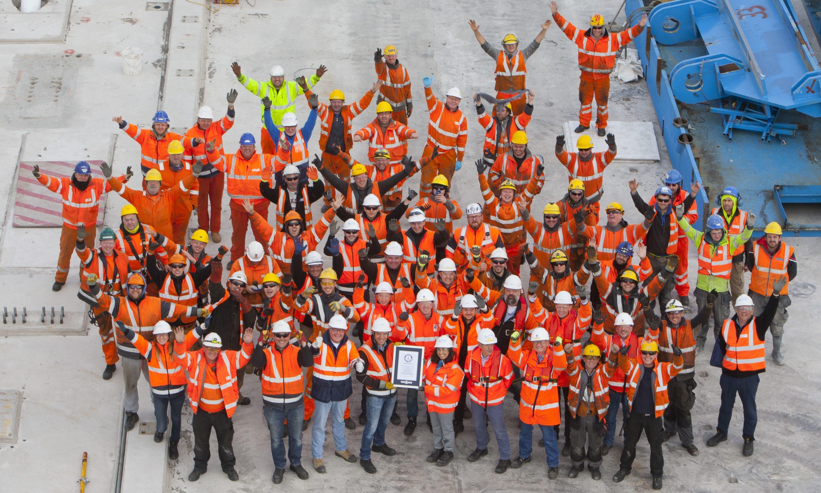 Bridge workers.