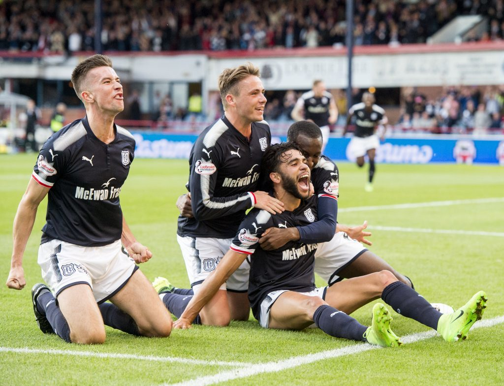 Dundee's Faissal El Bakhtaoui celebrates.