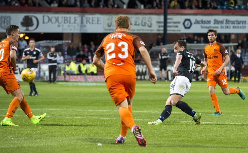 Dundee's Paul McGowan puts his side back in the lead