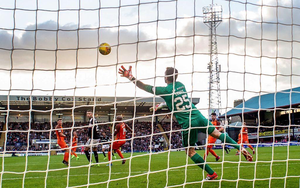 Dundee's Faissal El Bakhtaoui opens the scoring