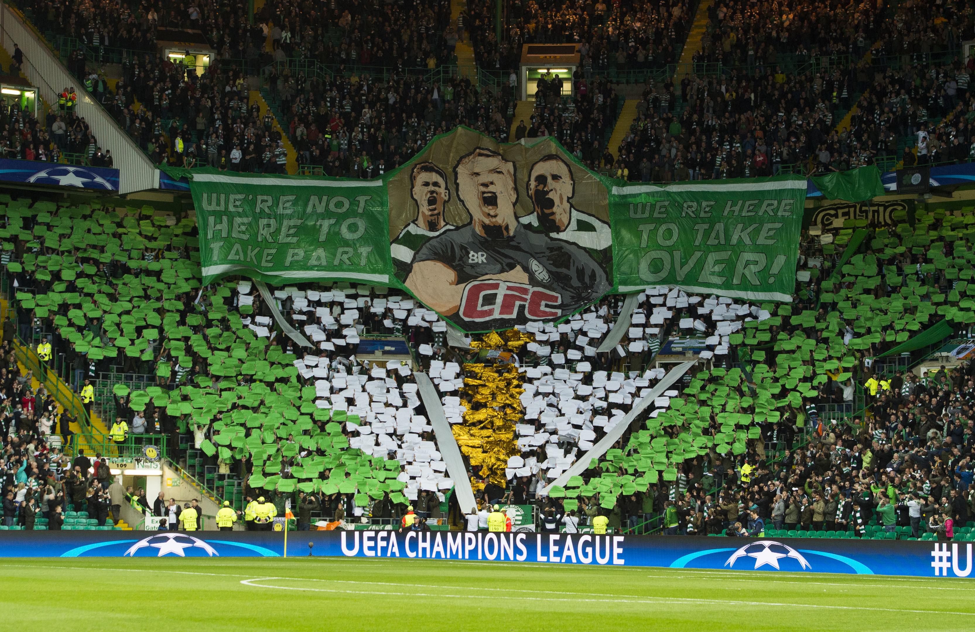 The Green Brigade display at Celtic Park