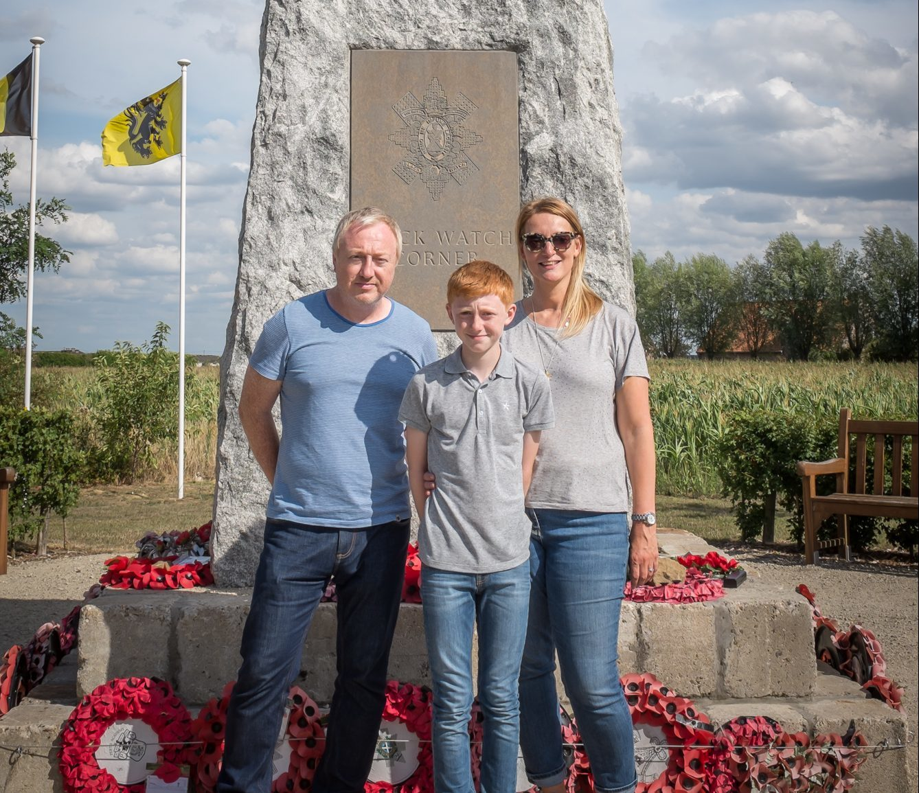 Sara and her family have visited Belgium to learn more of William's sacrifice.