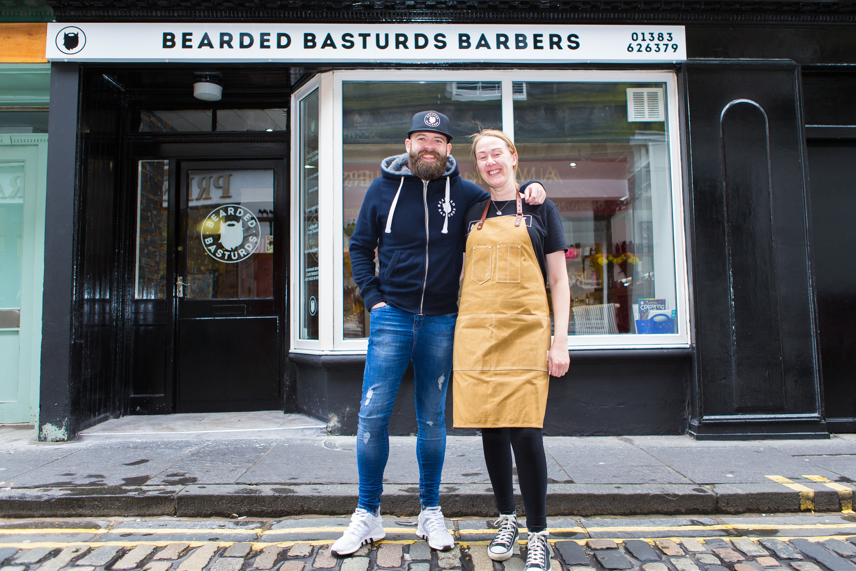 Salon Director Arlene MacGillvray and Craig McKay at the new shop in Bruce Street,