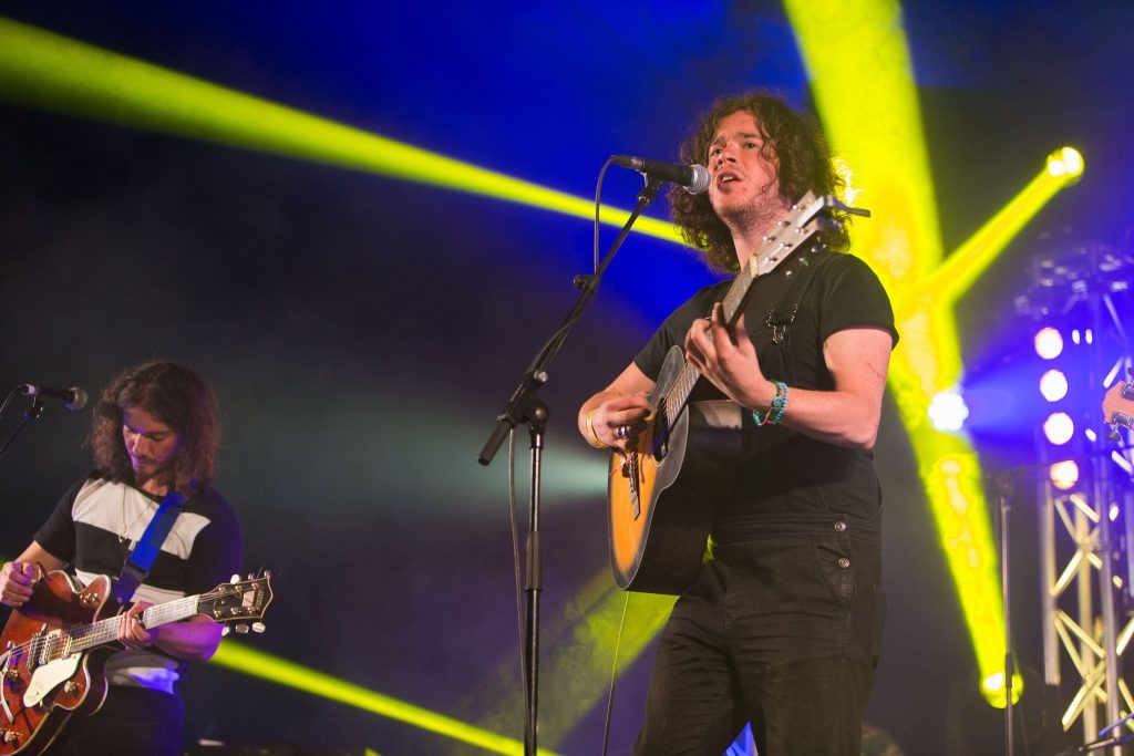 The Kyle Falconer band performing at last summer's Carnival 56 in Camperdown Park.