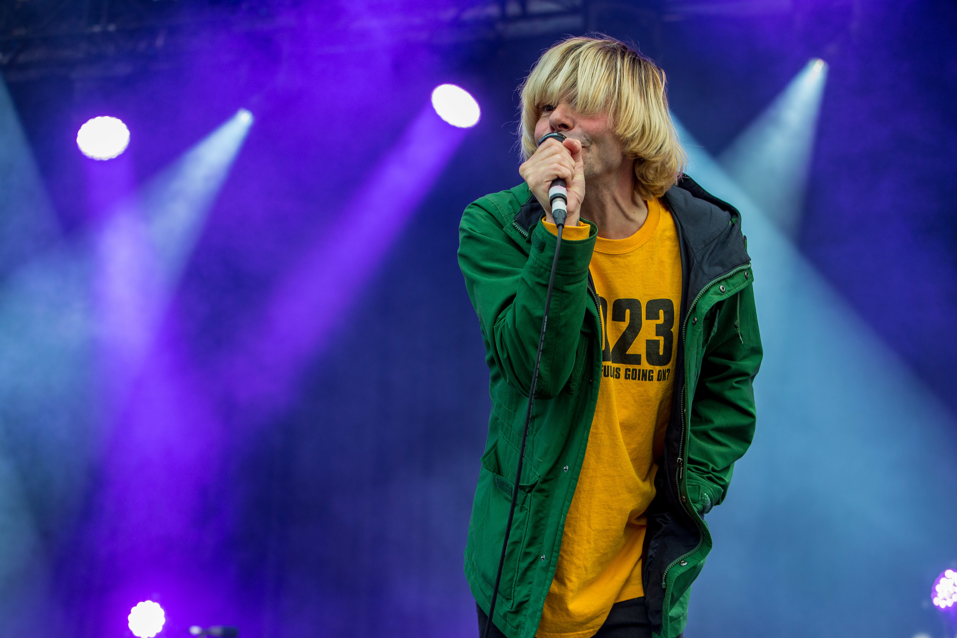 Tim Burgess of The Charlatans performs at Carnival 56