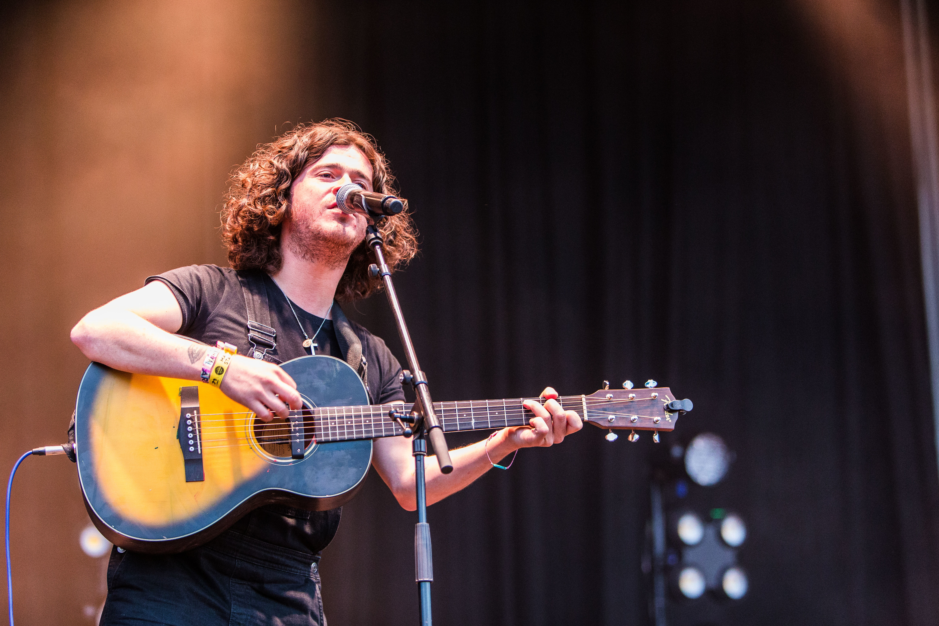 Kyle Falconer on stage at Carnival 56.