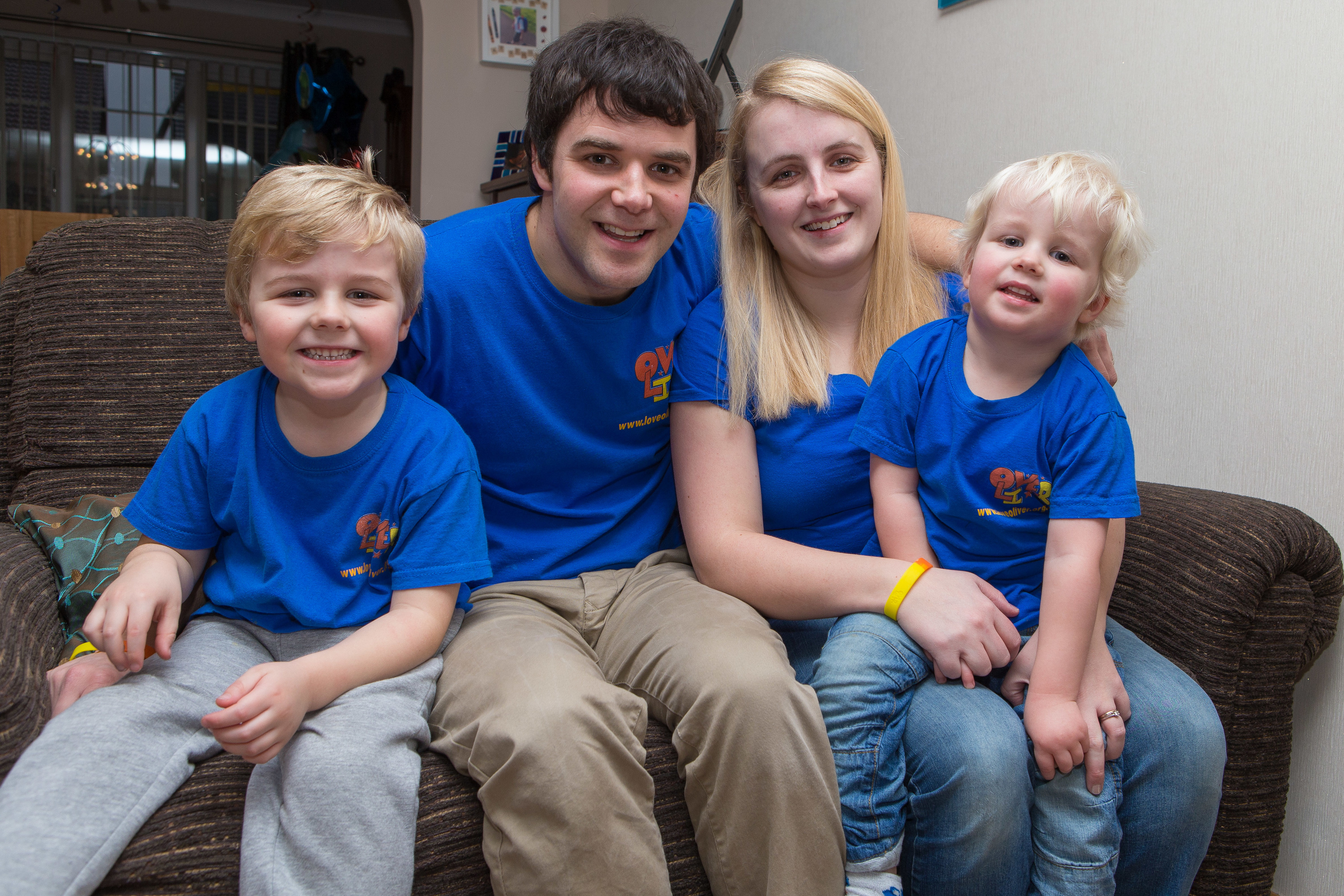 Andy and Jennifer Gill with children Micah and Rory.
