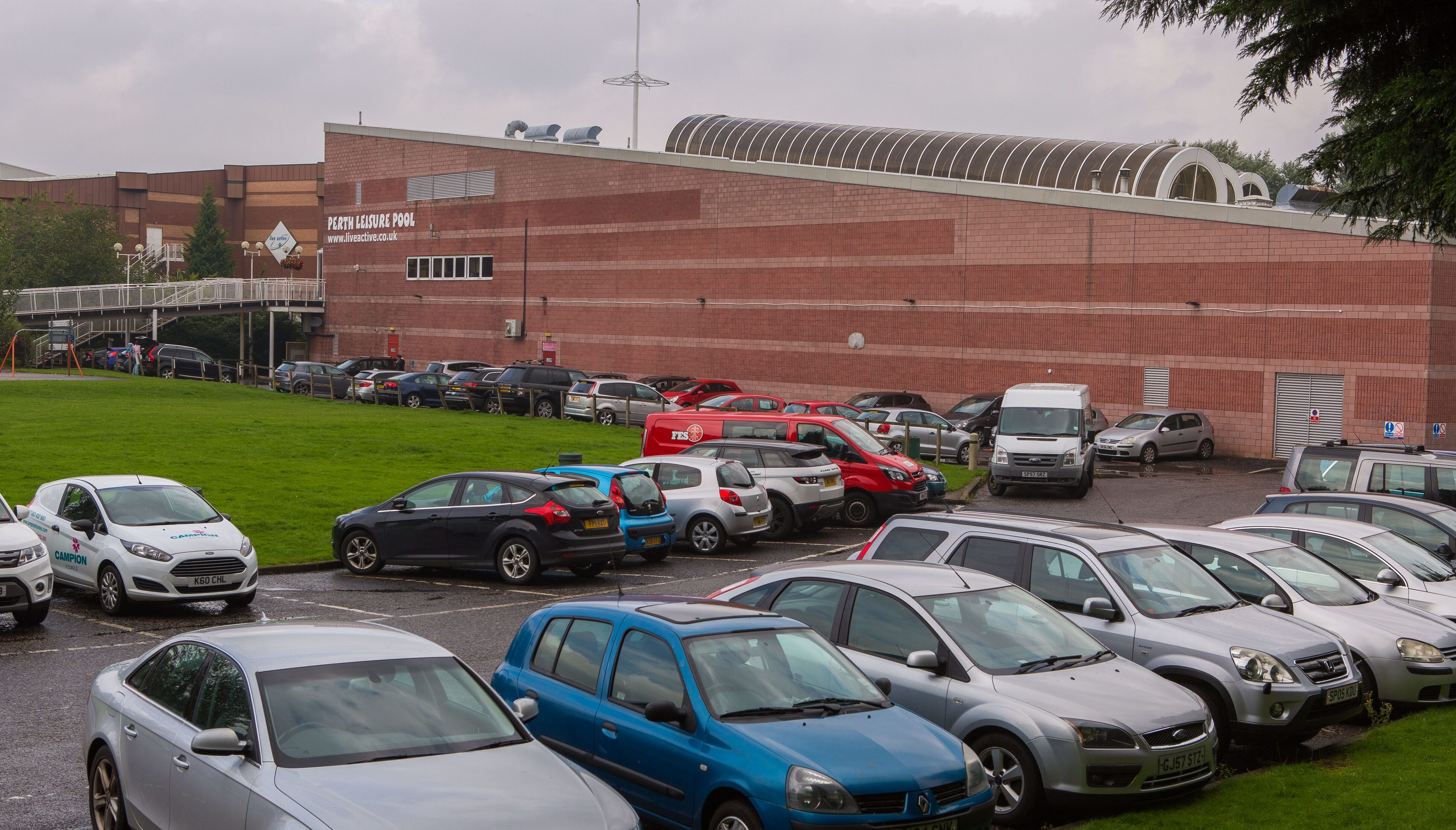 Parking at Perth Leisure Centre.