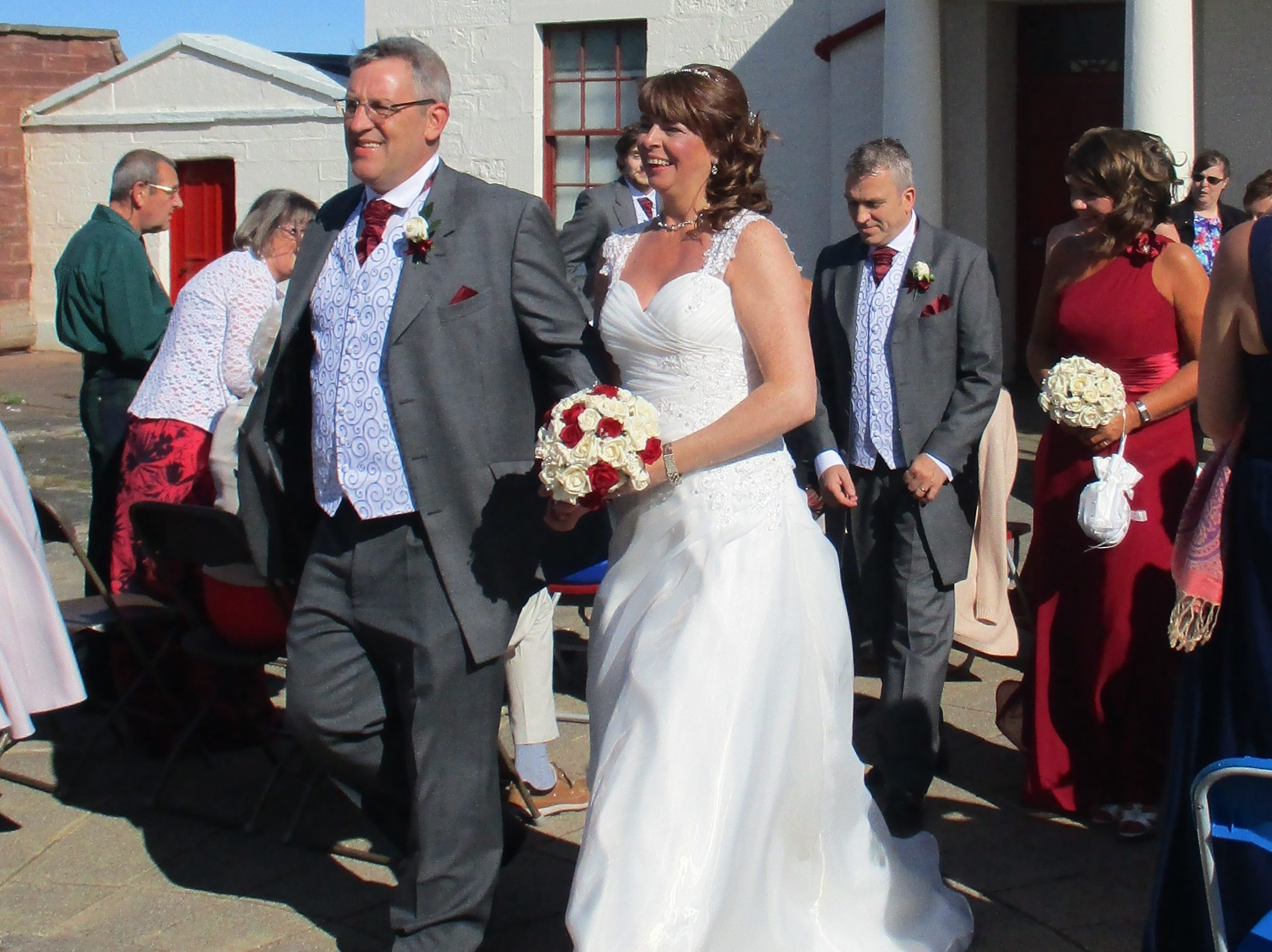 Newlyweds Beverley and Gareth.