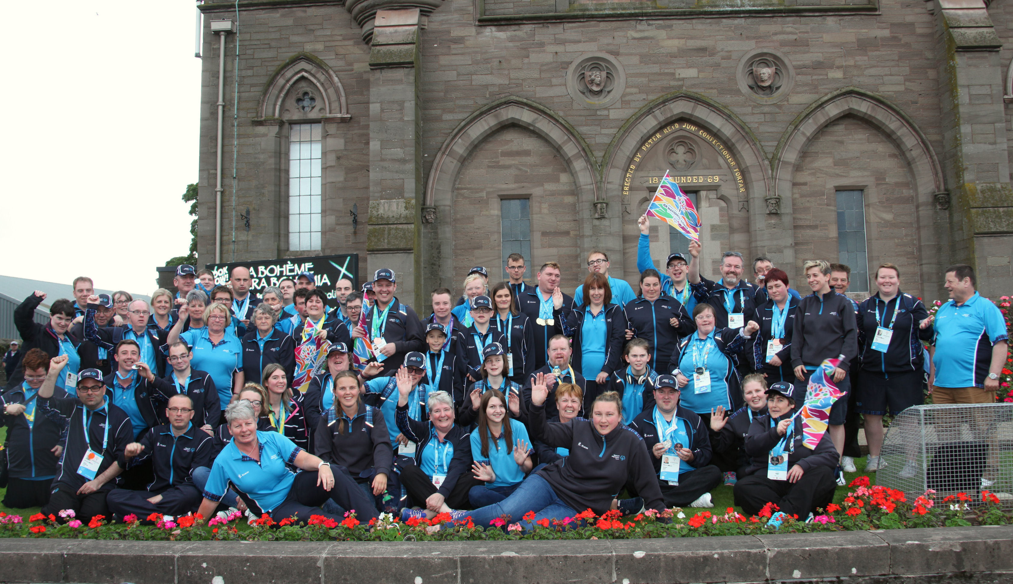 Some of the Tayside Special Olympics squad pictured outside Forfar's Reid Hall.