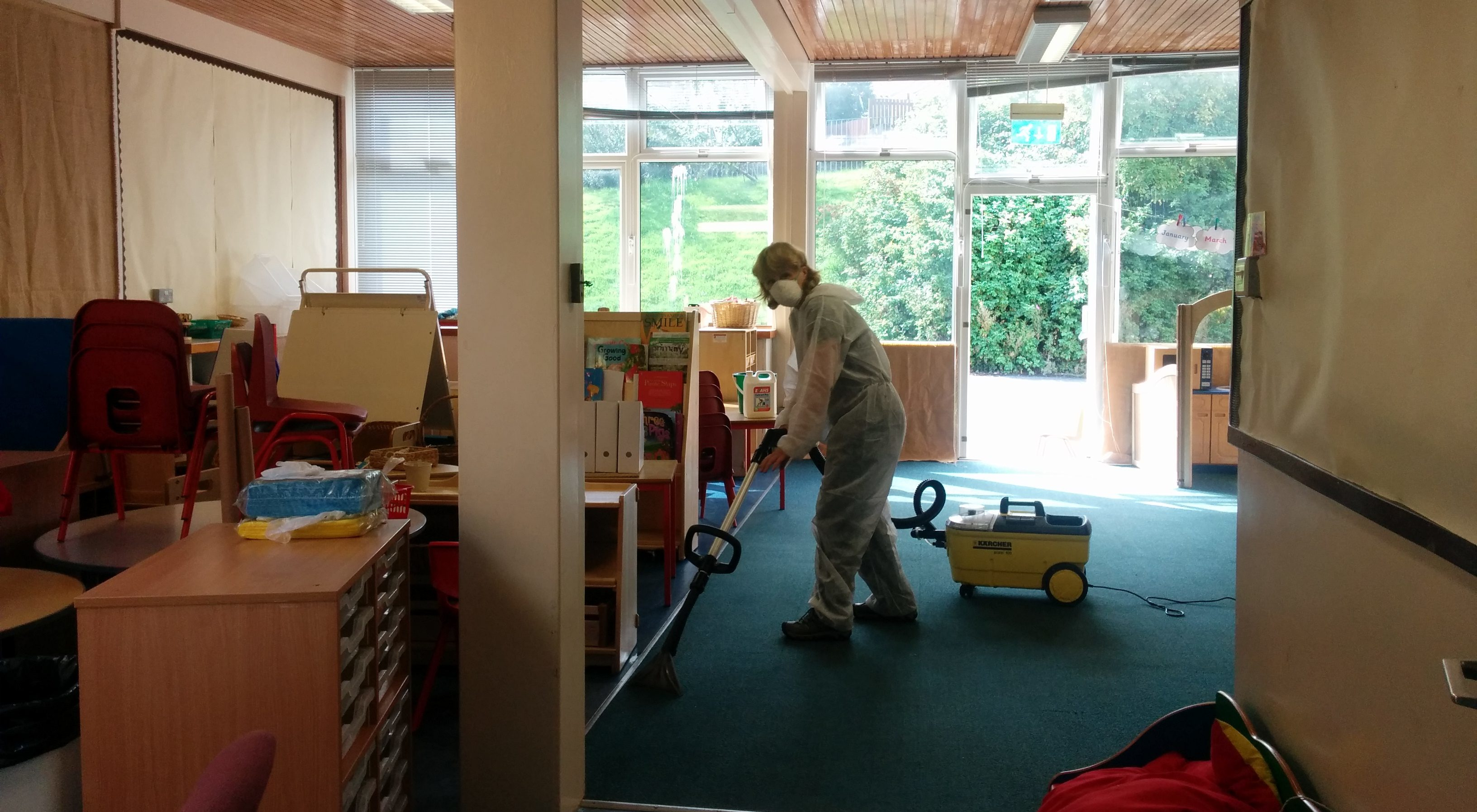 The clean up at Torbain primary and nursery is in full swing