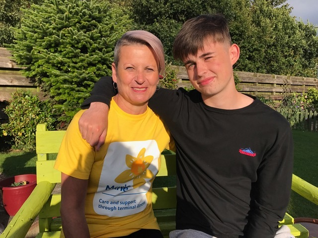 Jill Neal and son Nathan Black will complete the 26-mile Dundee Cyclathon together