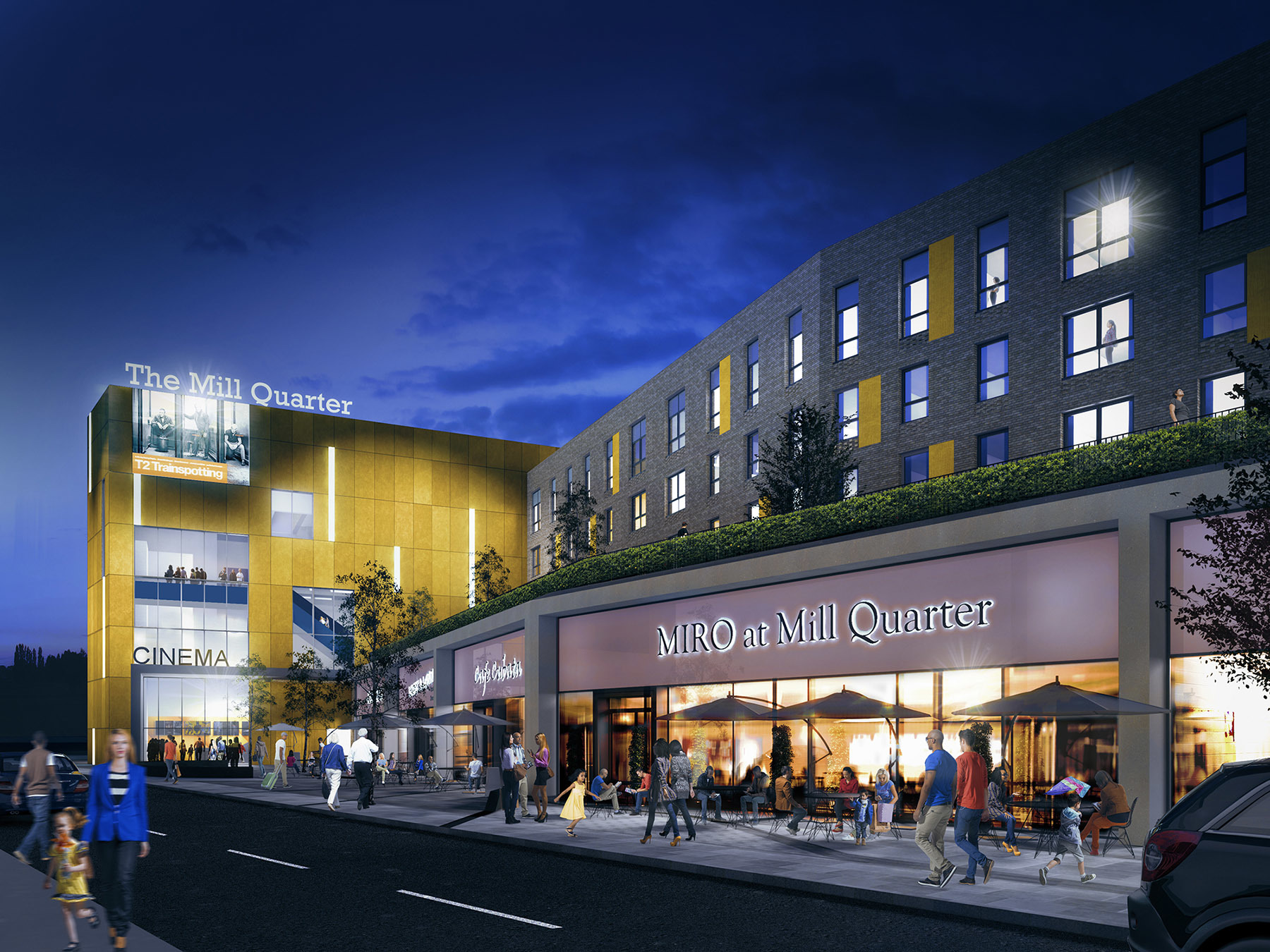 An artist's impression of the £30m Mill Quarter in Perth.