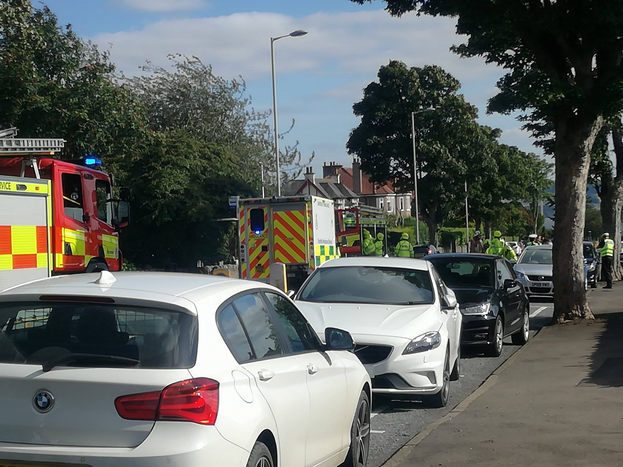 Residents spoke of their concerns following a crash which left a woman and a child in hospital.