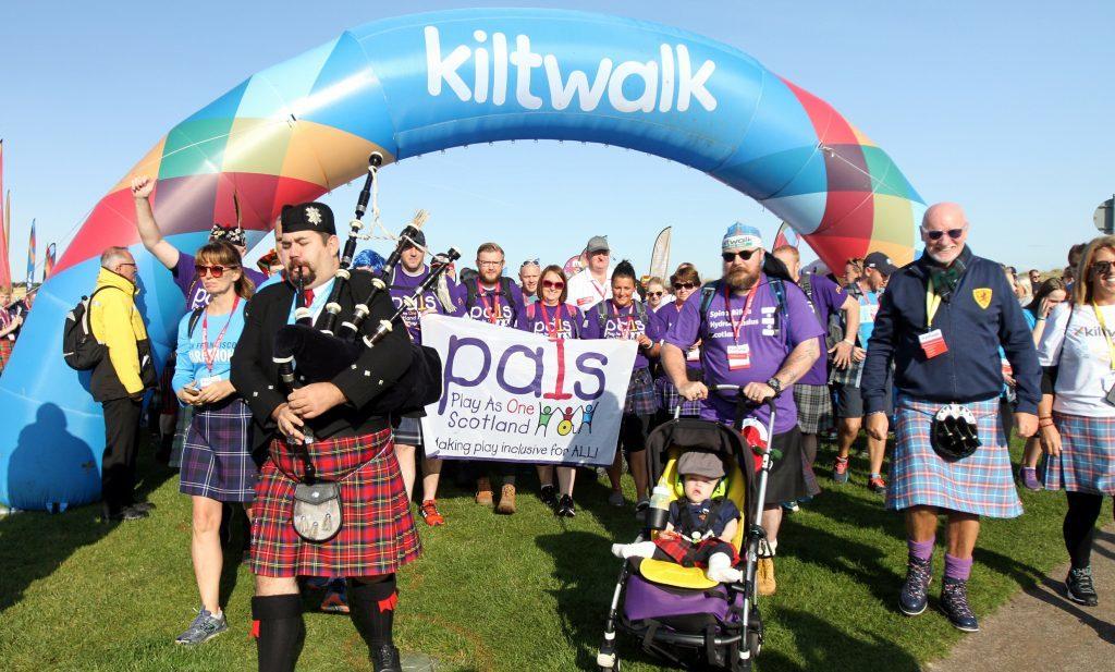The Kiltwalk in St Andrews.