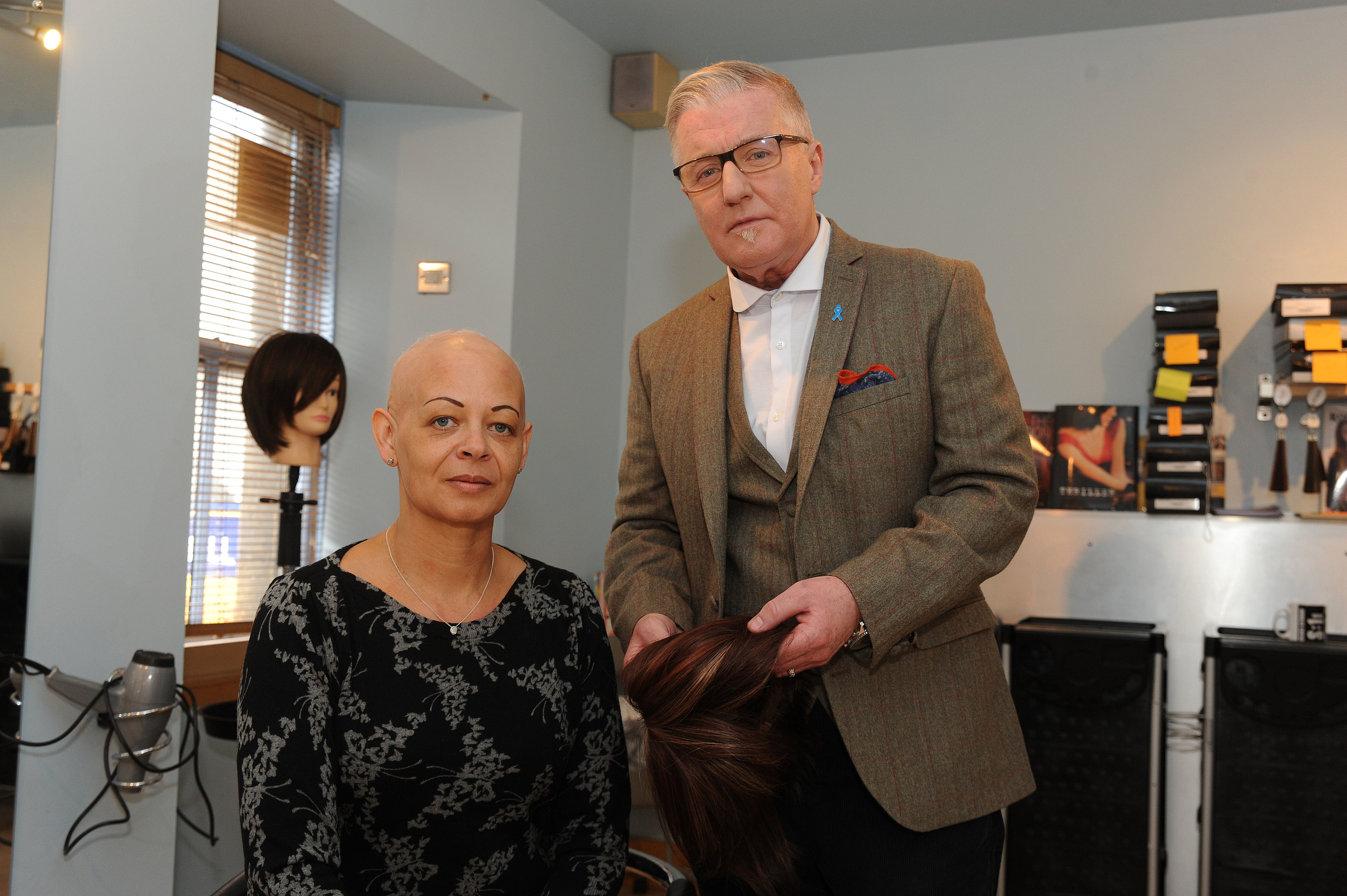 Douglas with client Andrea Duncan when the service launched in 2014.