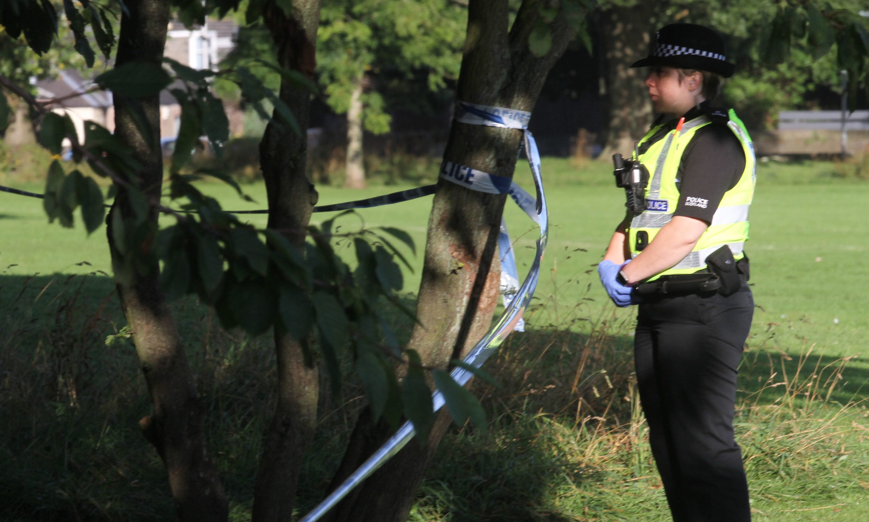 Police officer at the scene.