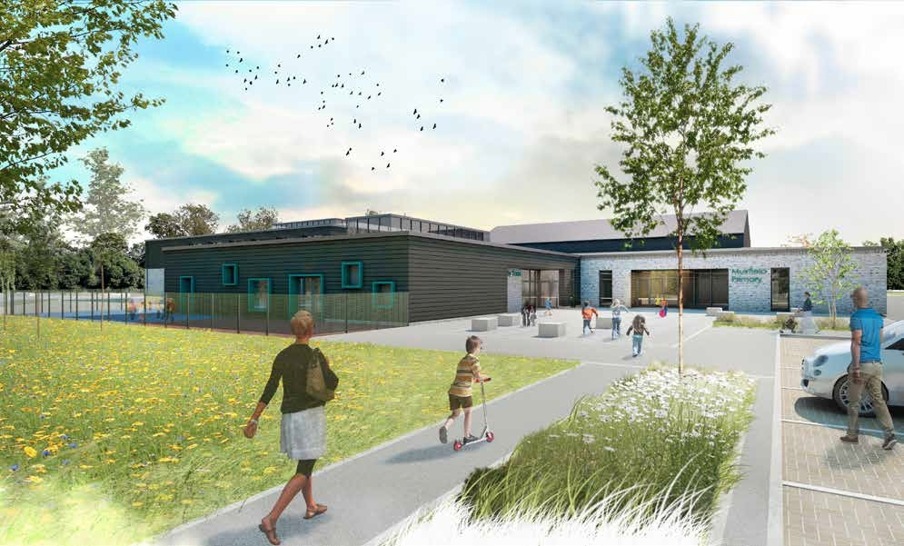 An artist impression of the  approach to new-look Muirfield PS