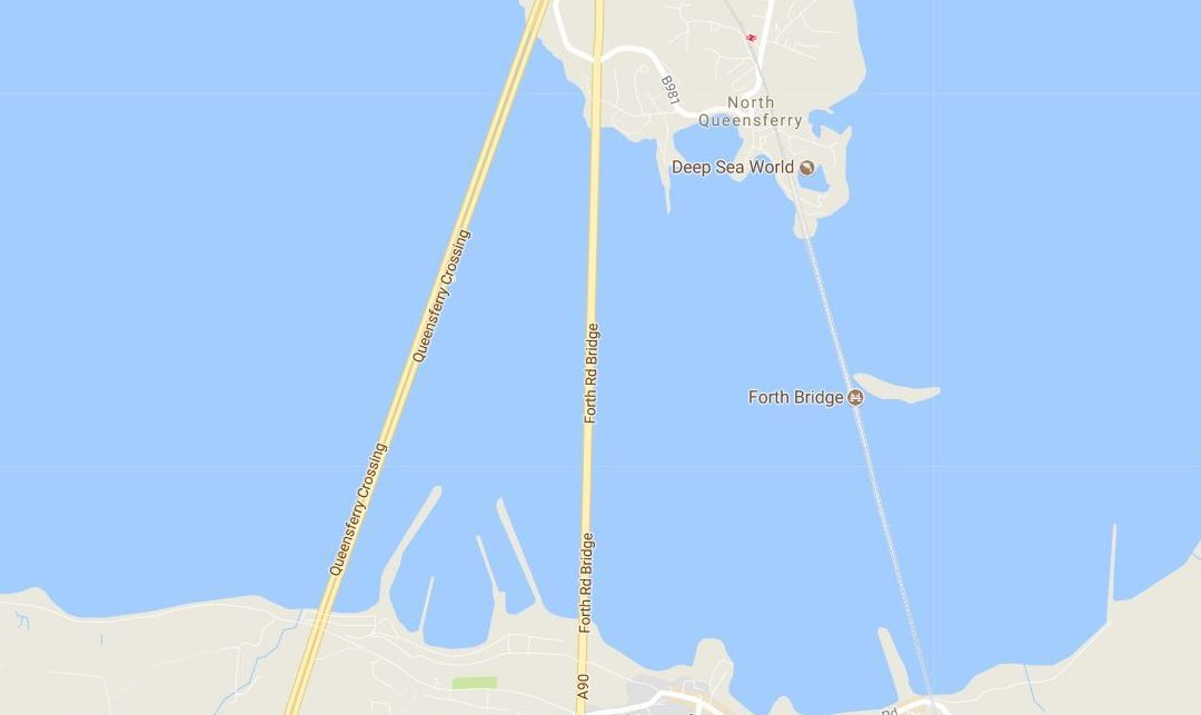 The Queensferry Crossing is now on Google Maps.