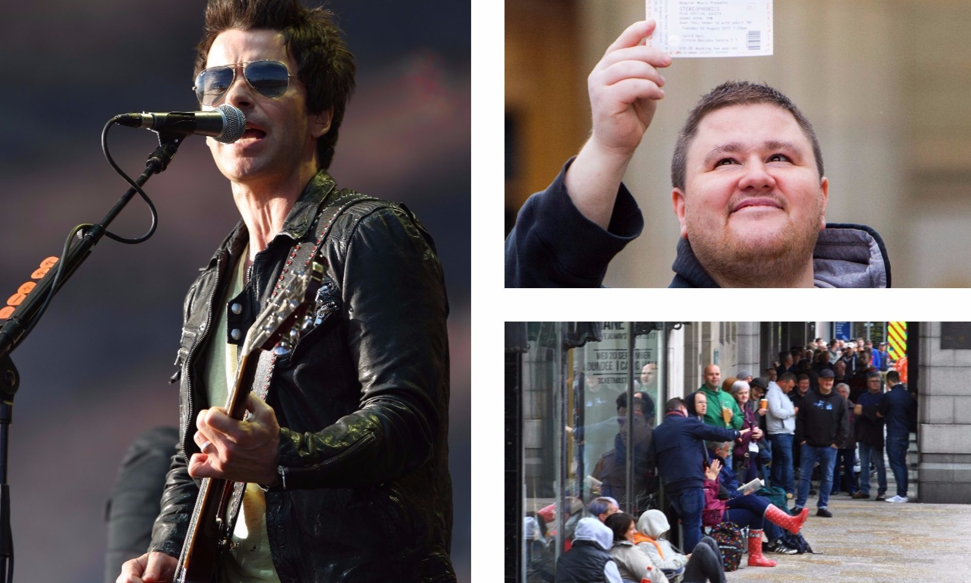 Stereophonics fans queued in the rain for tickets to see the band in Dundee.