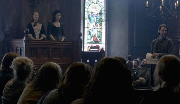 Scenes from Outlander filmed in Tibbermore Church.