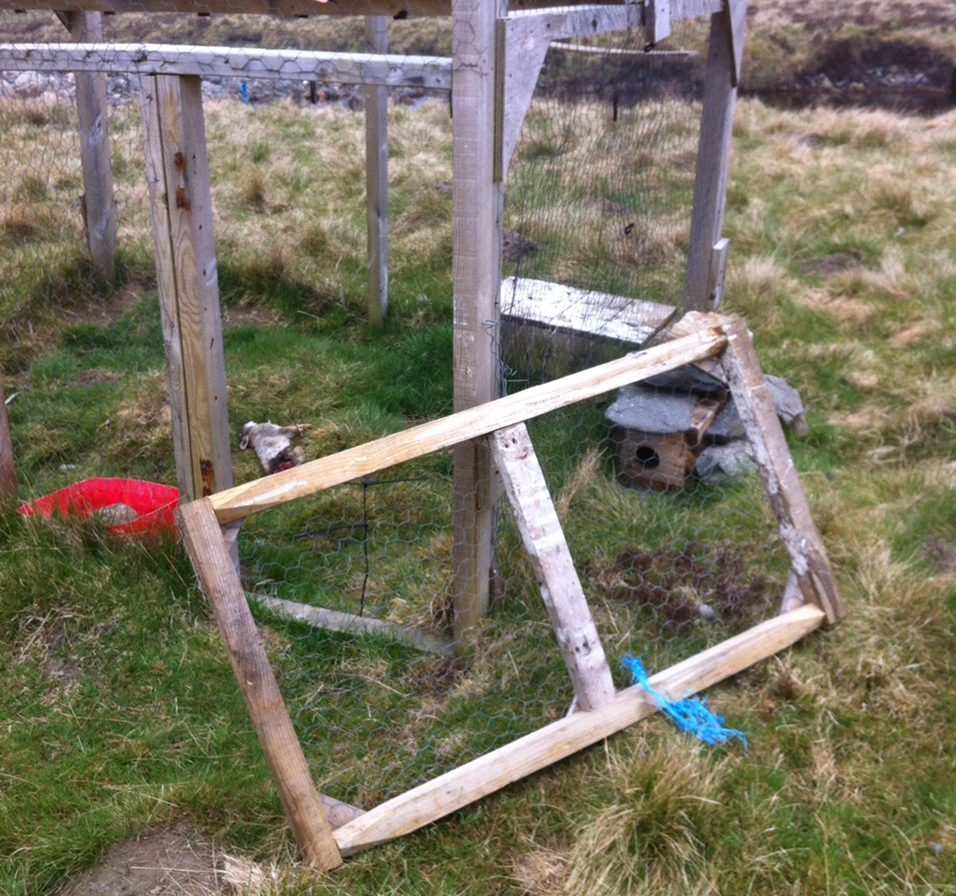 Damage caused to a legal predator control trap on an Angus moor,.