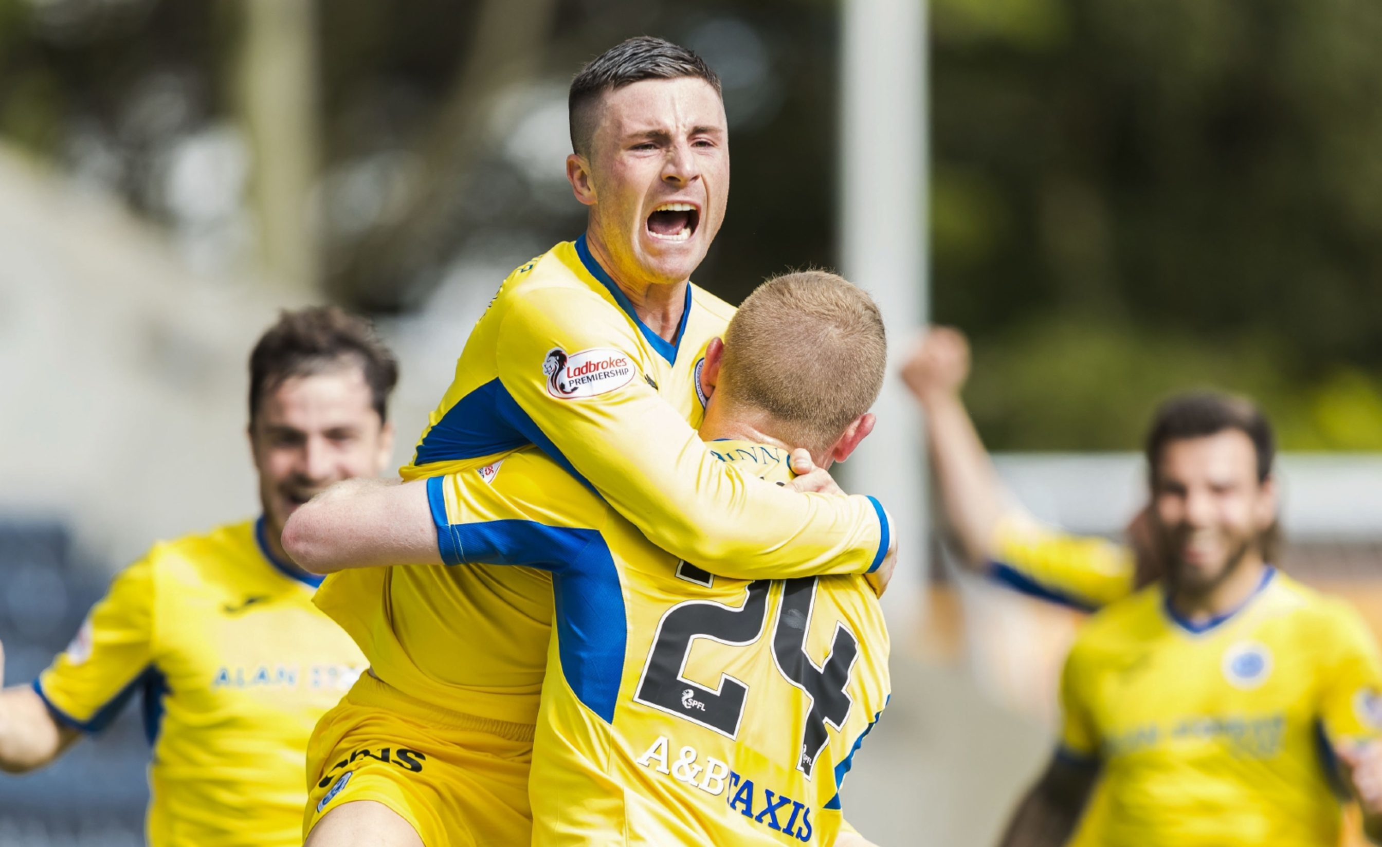 Michael O'Halloran celebrates his dramatic winner.