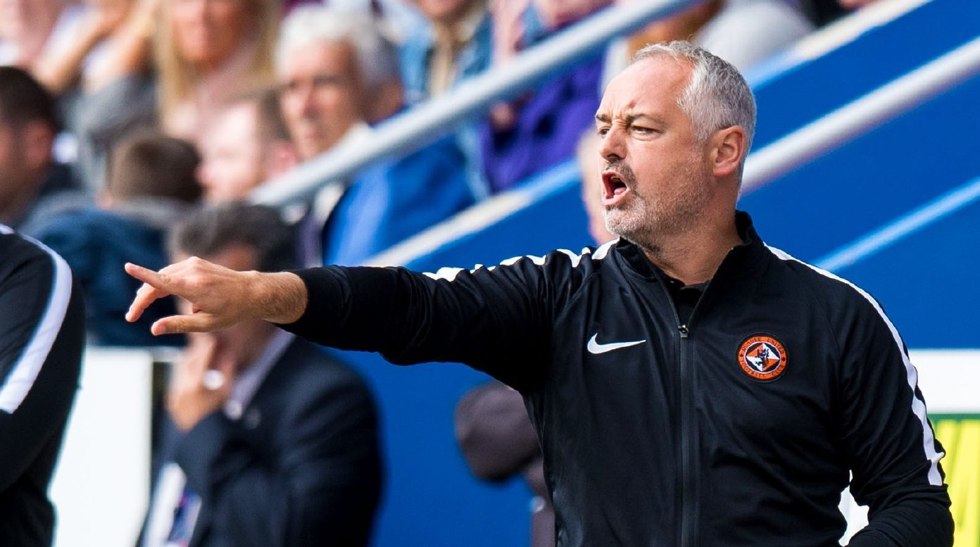 Ray McKinnon urges his players on at Inverness.
