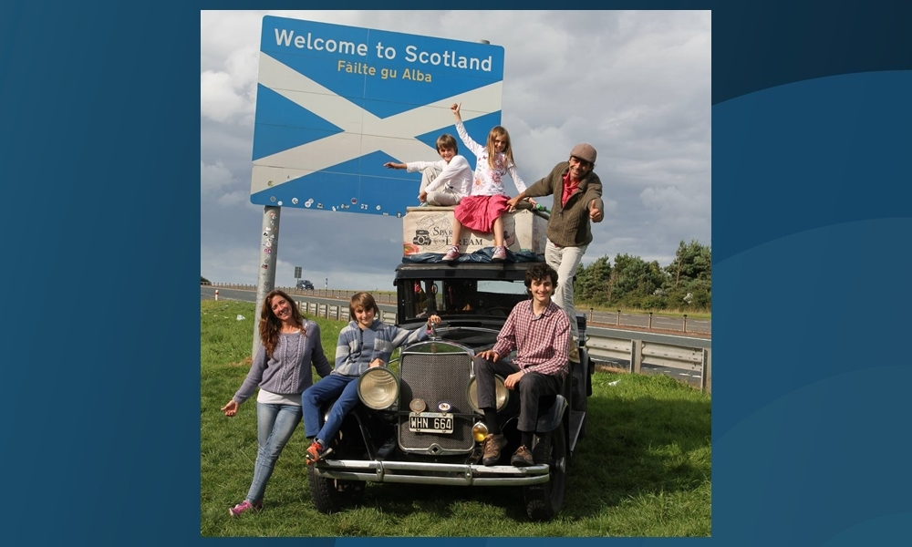 The Zapp family reach Scotland.