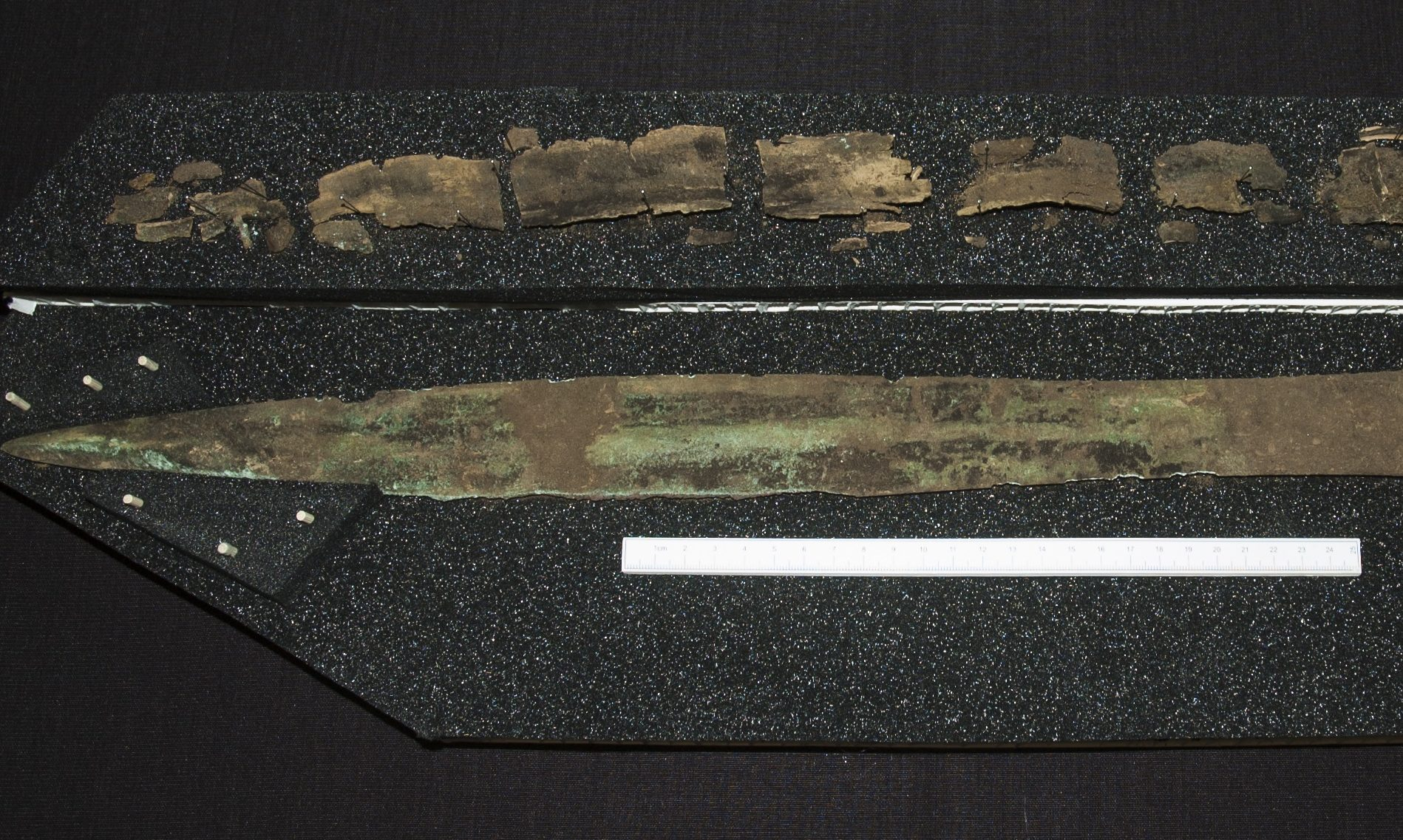 The Bronze Age sword discovered at Carnoustie.