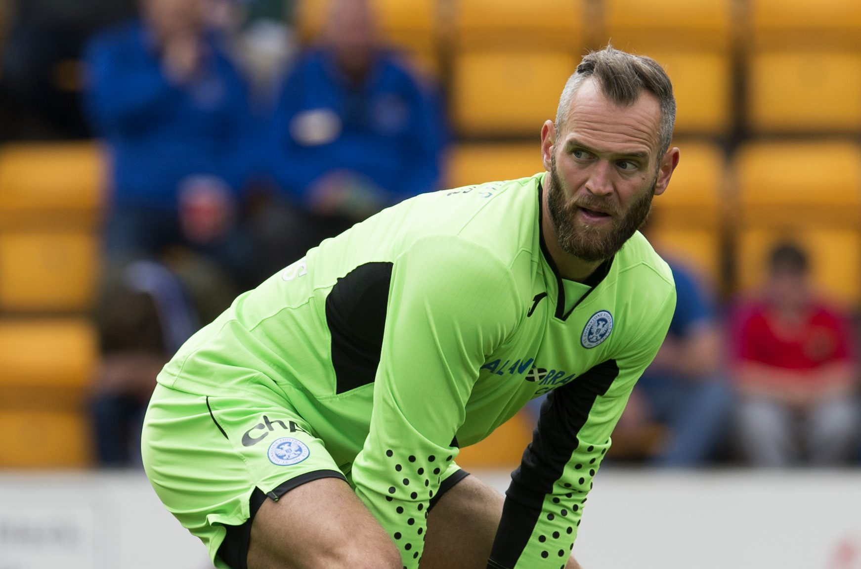 Alan Mannus in his St Johnstone days.