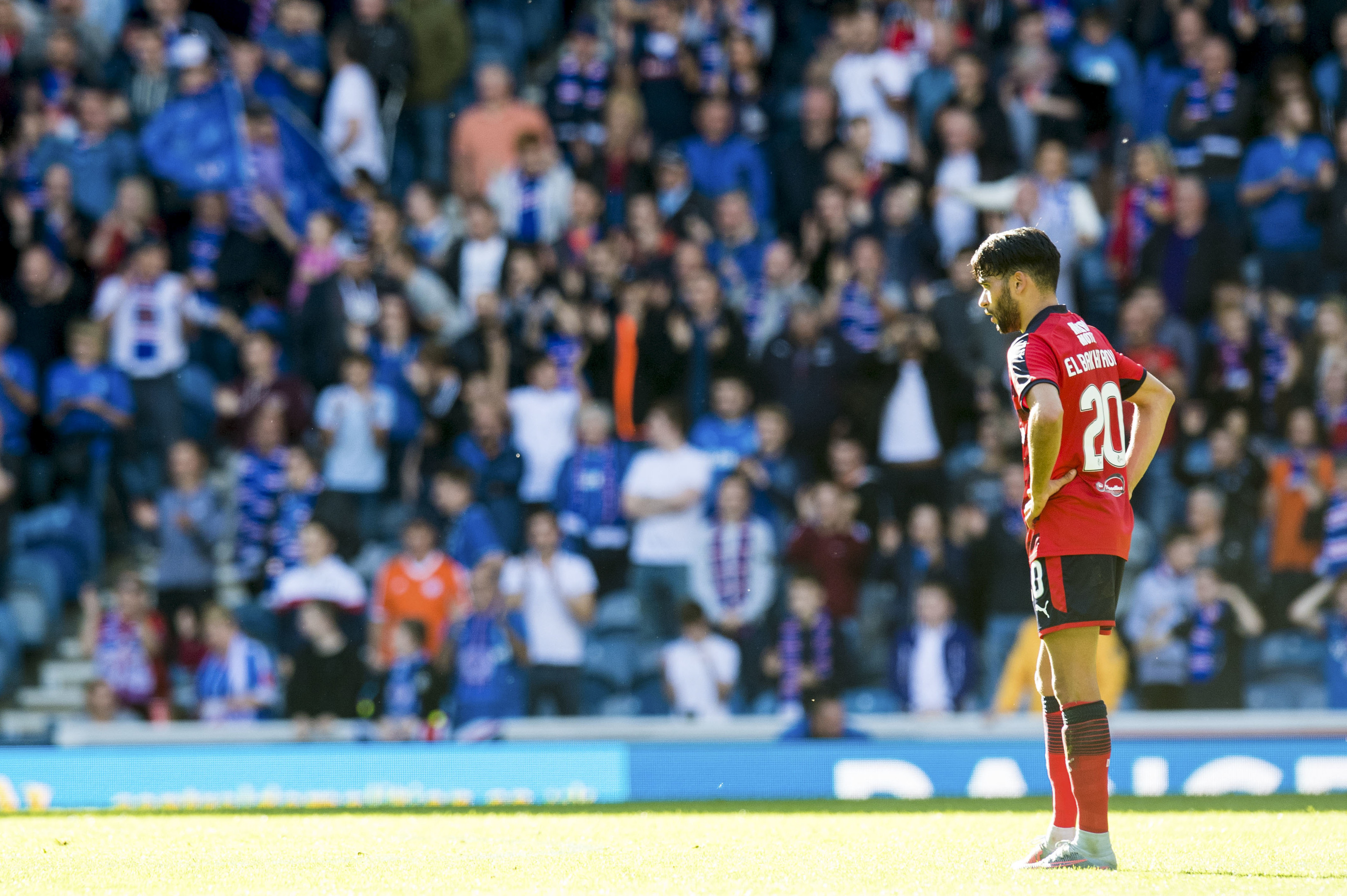 It was dejection for Faissal El Bakhtaoui and his Dundee team-mates at Ibrox.