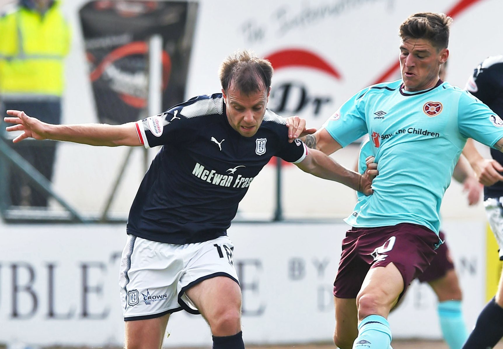 Paul McGowan in action on Saturday.