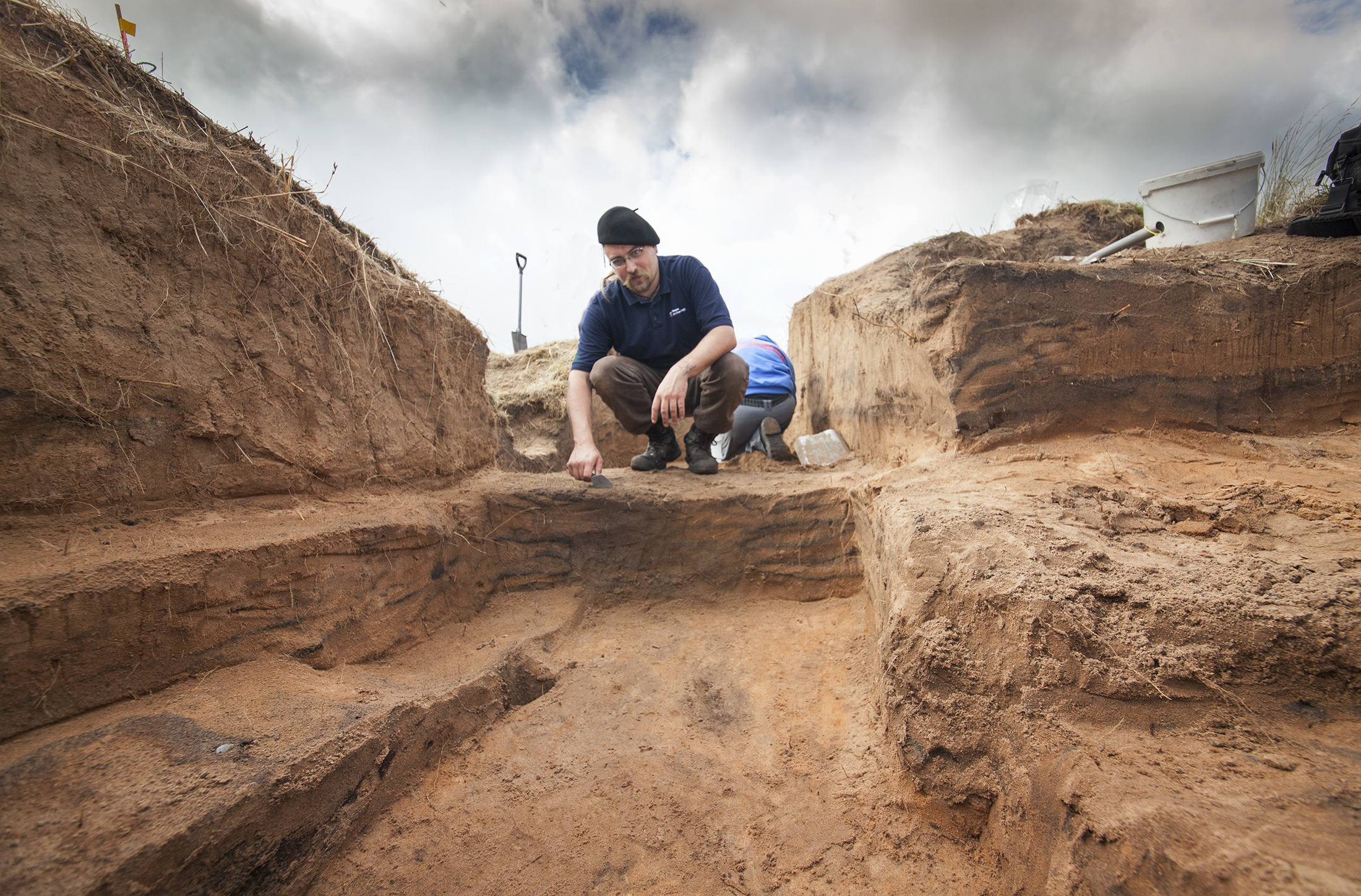 Wounded armed forces personnel turned treasure hunters are helping to uncover trenches from the First World War at MoD's Barry Buddon Training Centre