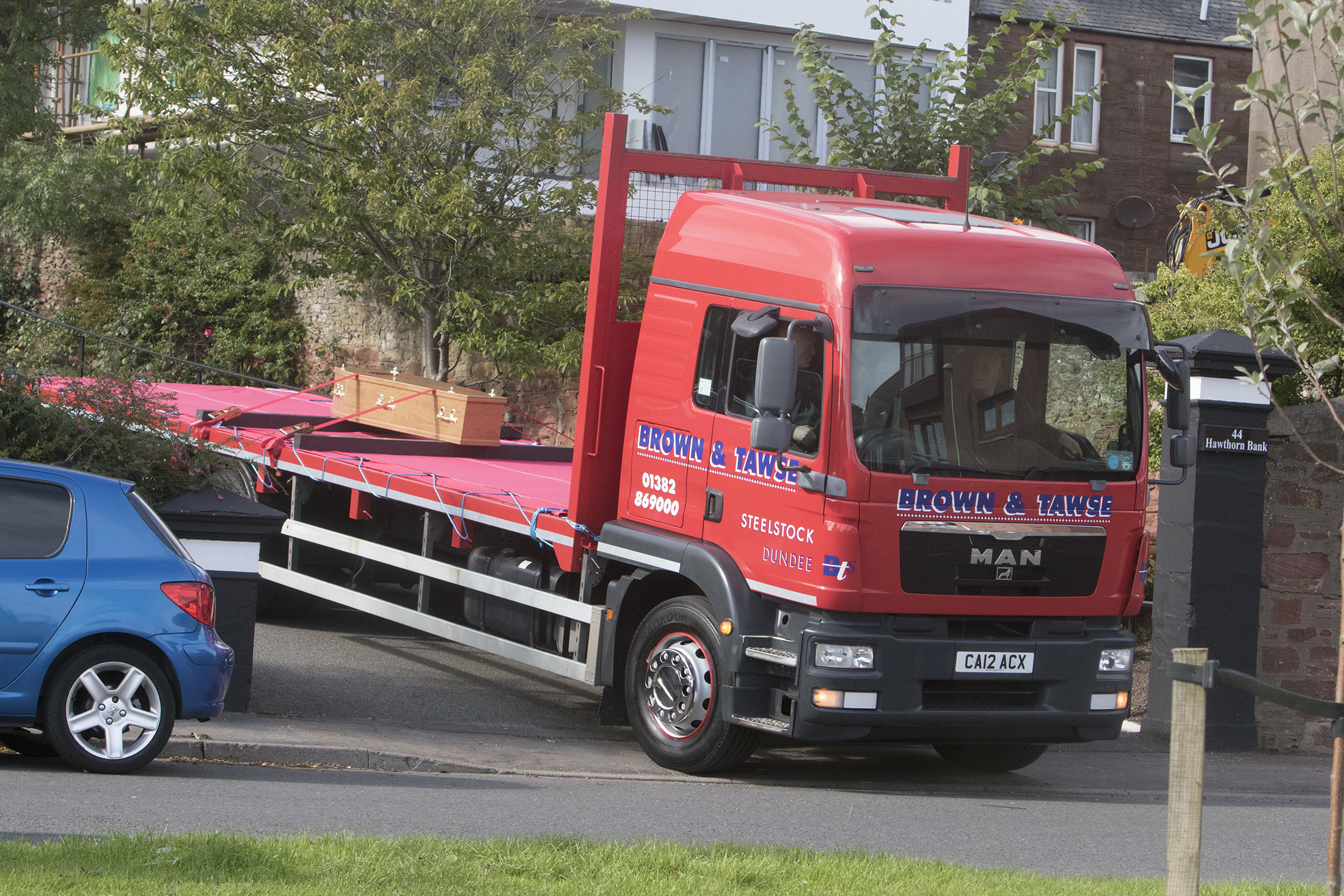 The lorry was freshly painted for the funeral of Mike Willox.