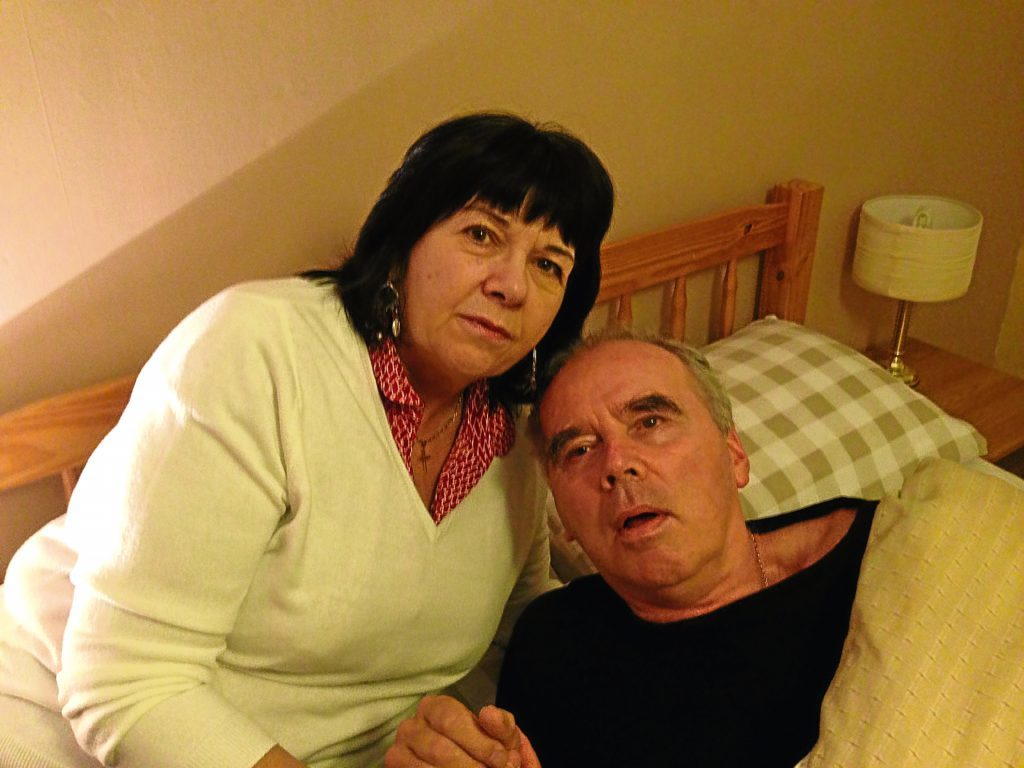 Amanda Kopel with her husband Frank, who passed away in 2014.