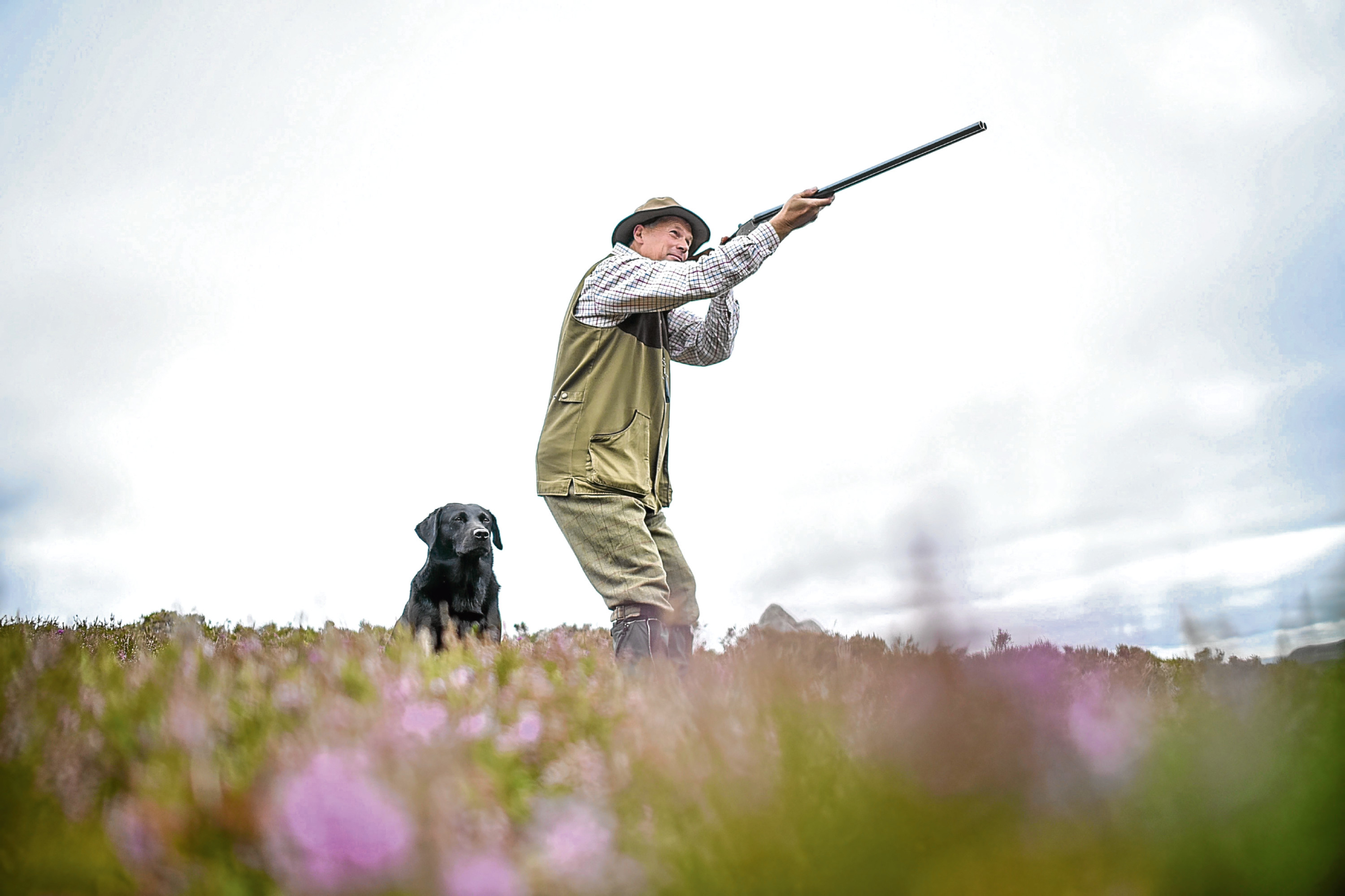 A grouse shooter at Glenclova.