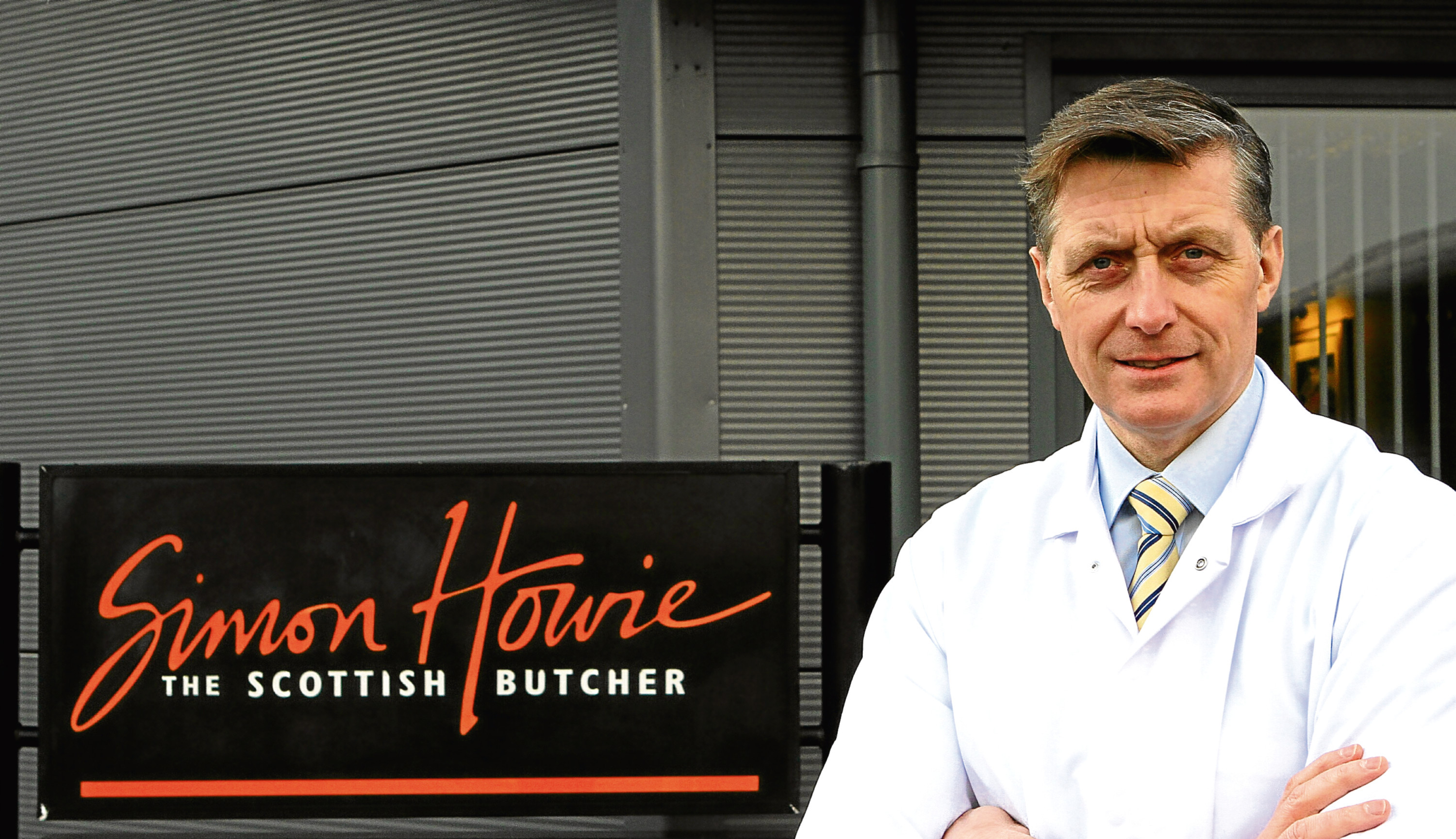 Courier Features - Caroline Lindsay story - Simon Howie and haggis - Dunning.  THIS PICTURE IS FOR CAROLINE LINDSAY MEET YOUR MAKER. Picture shows; Simon Howie, butcher, at his company's headquarters in Dunning today. Monday 9th January 2017.