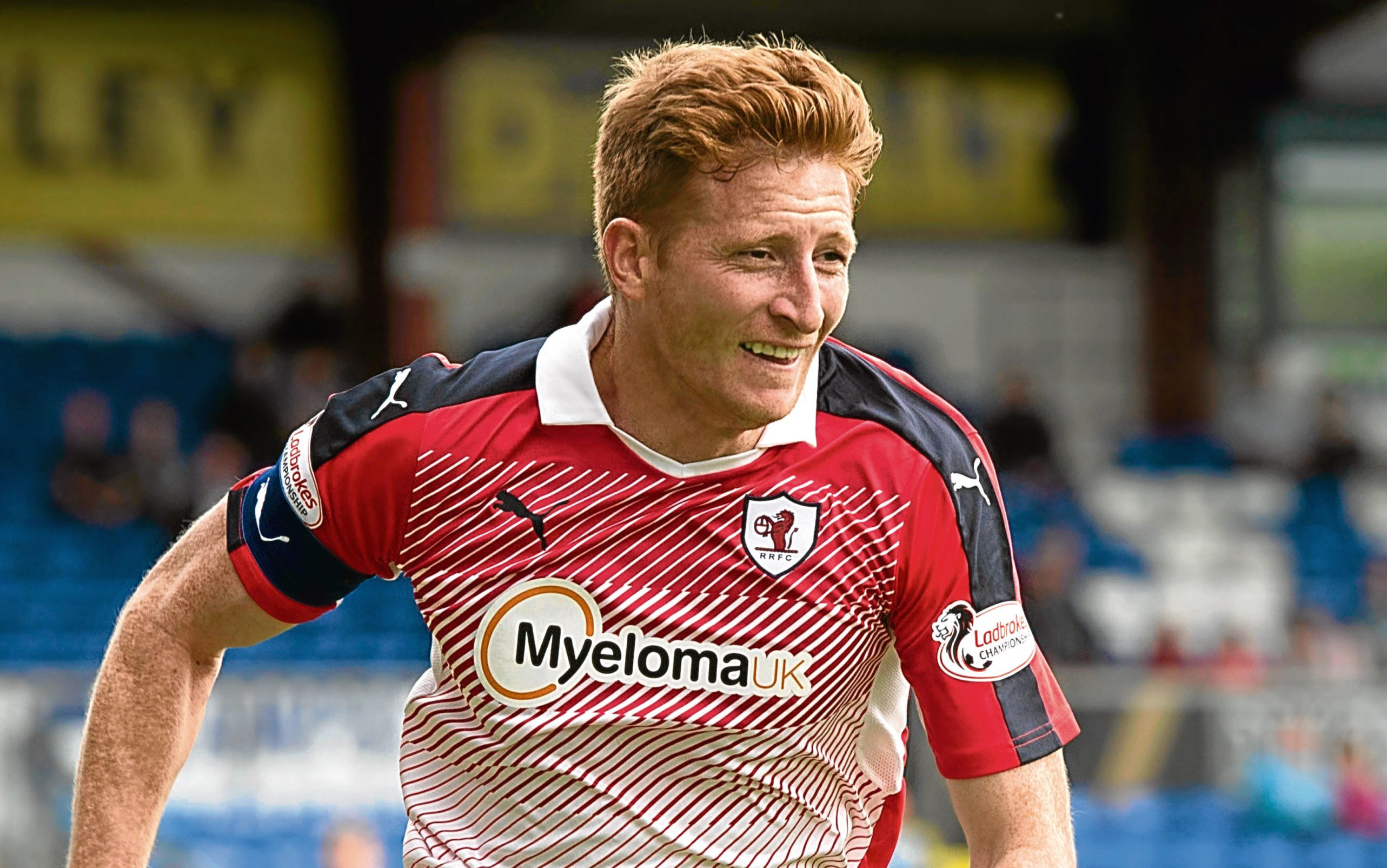 Jason Thomson in action for Raith Rovers.