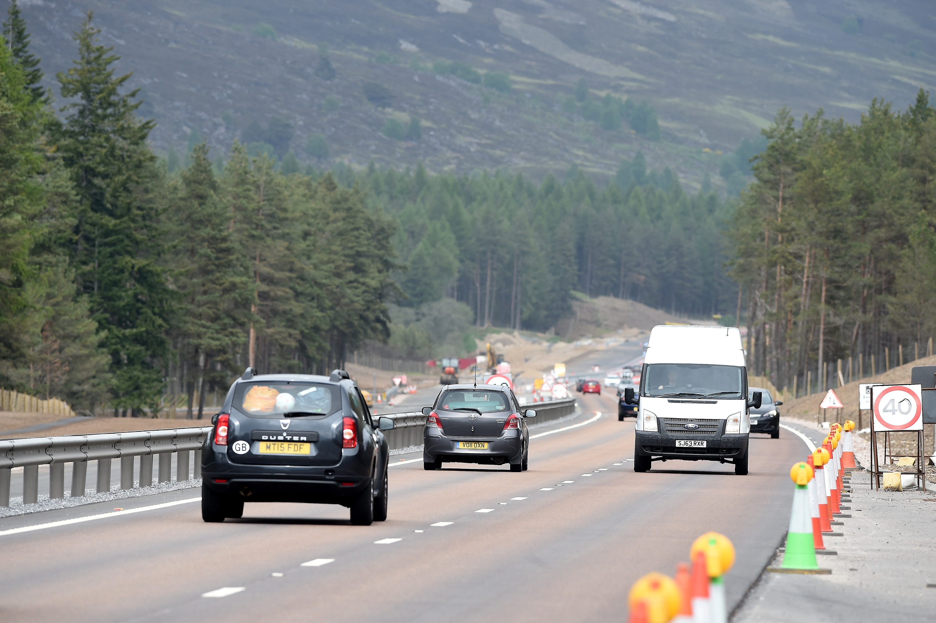 The A9 from Kincraig to Dalraddy in Strathspey.