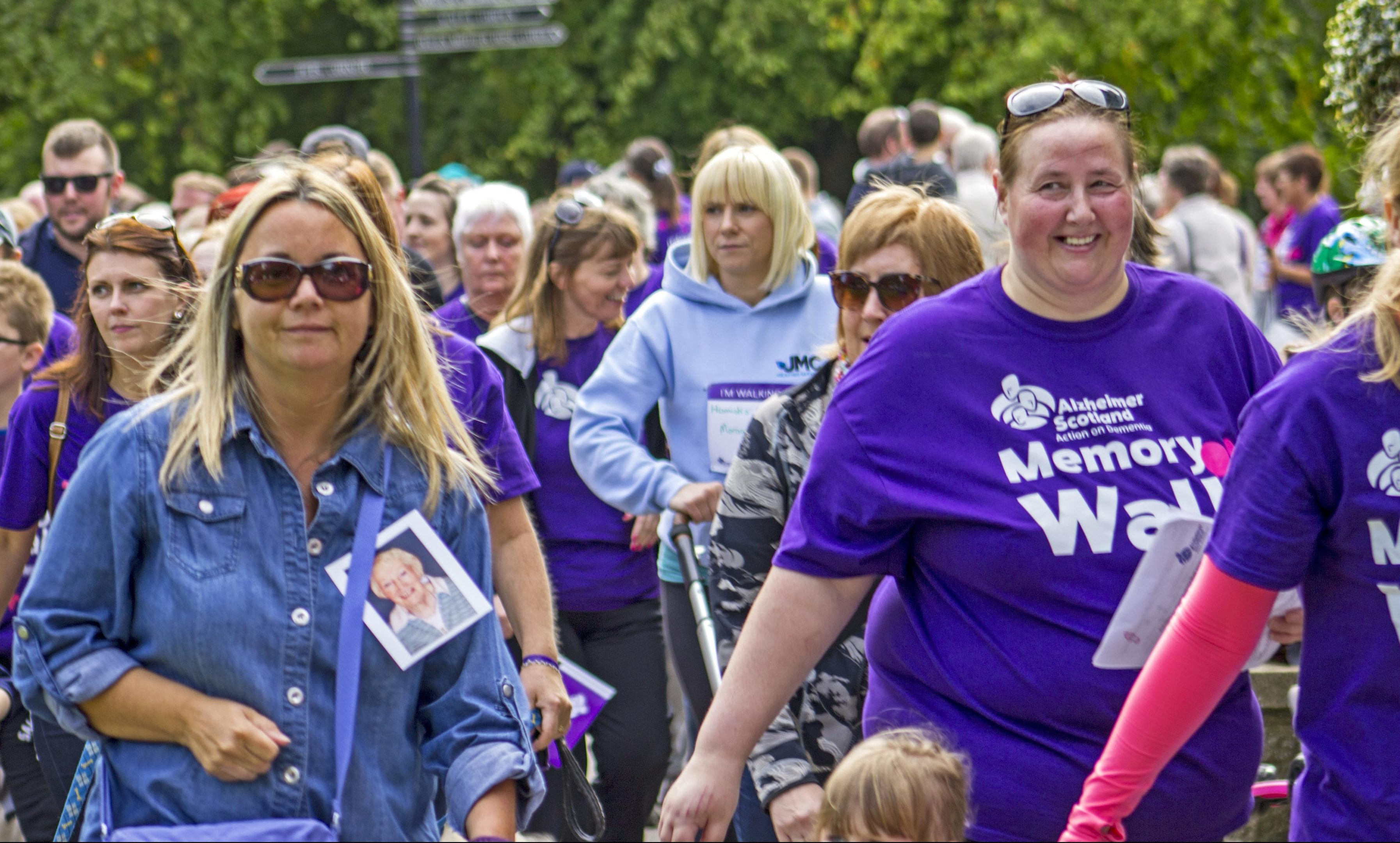 Memory Walks are held across Scotland.