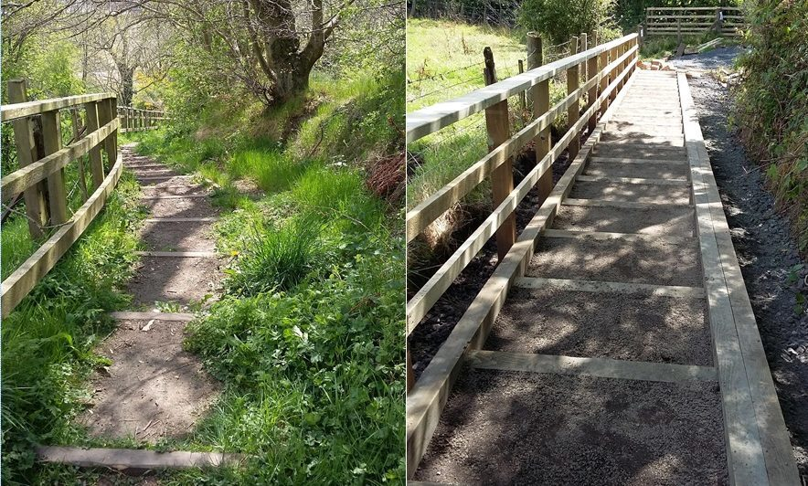 Before and after of Common Loan in Auchterarder.