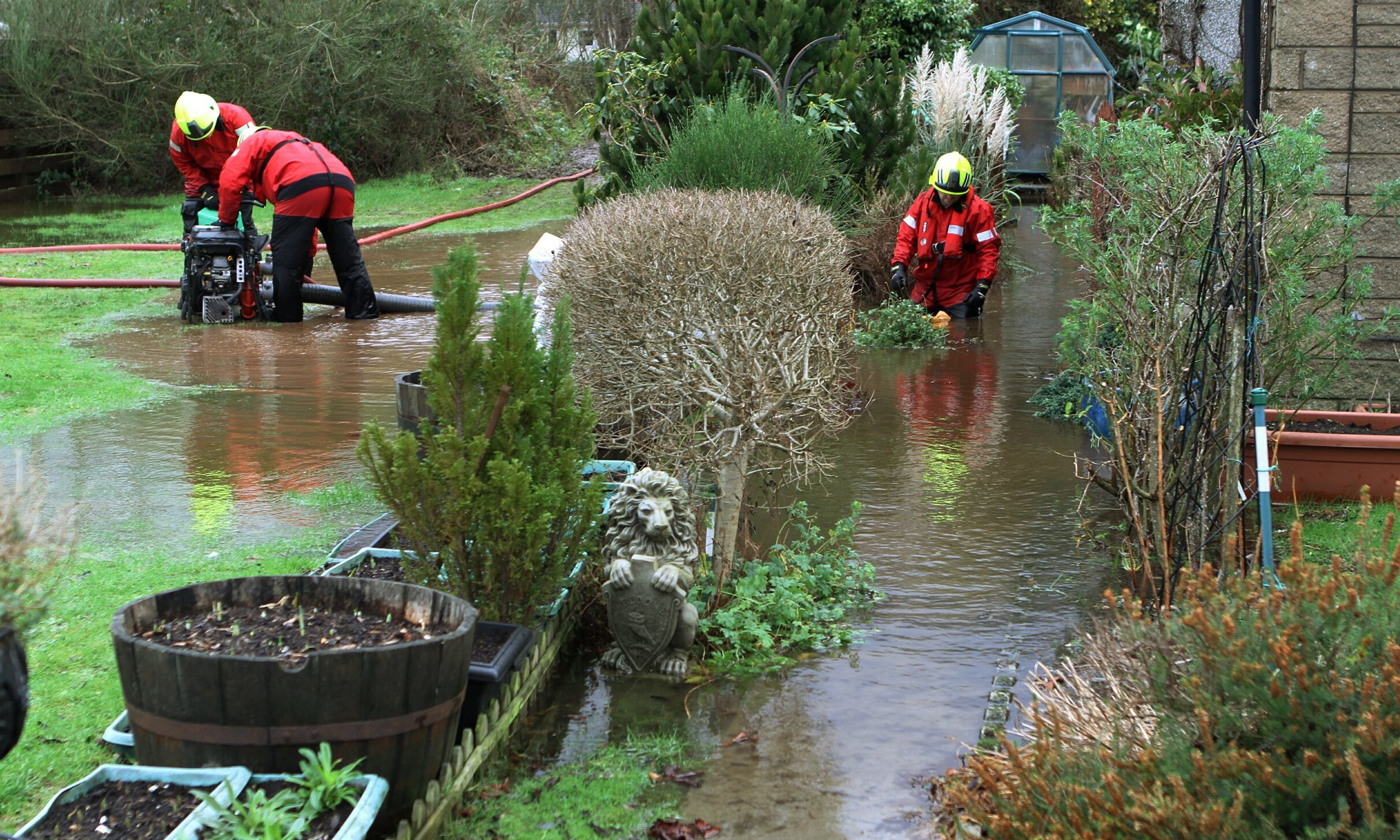Flooding at Comrie in 2015